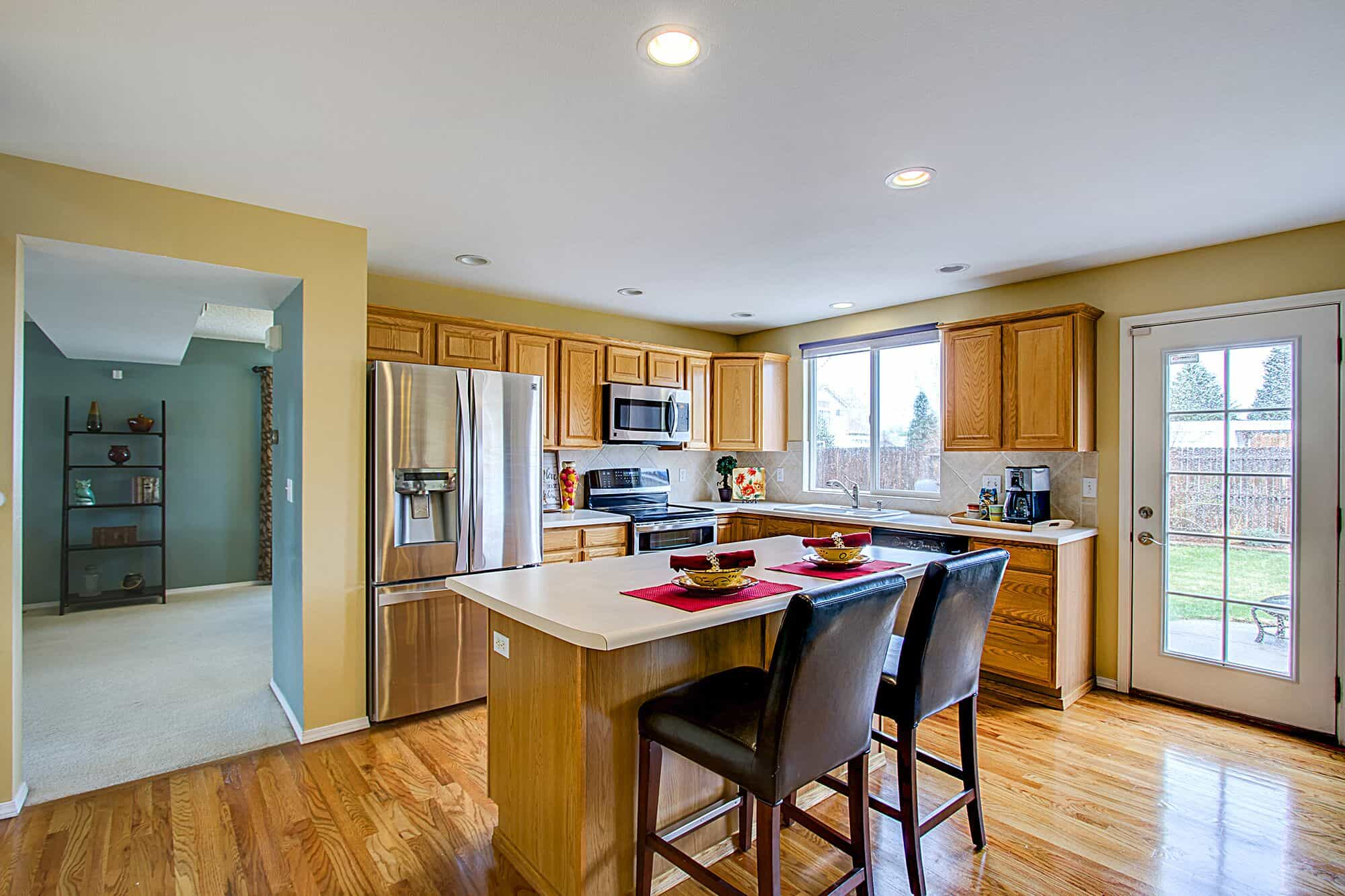 Kitchen with Dining Room in Backyard