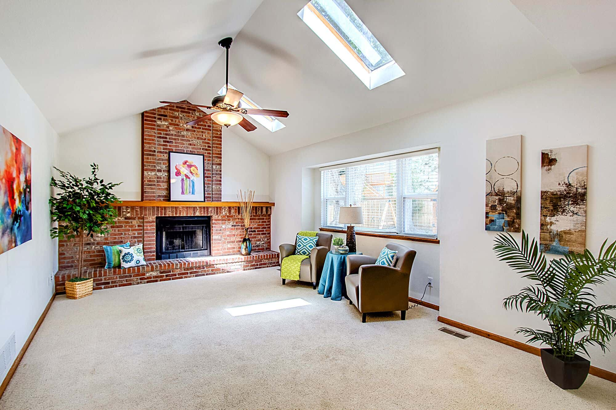 Family Room With Skylights