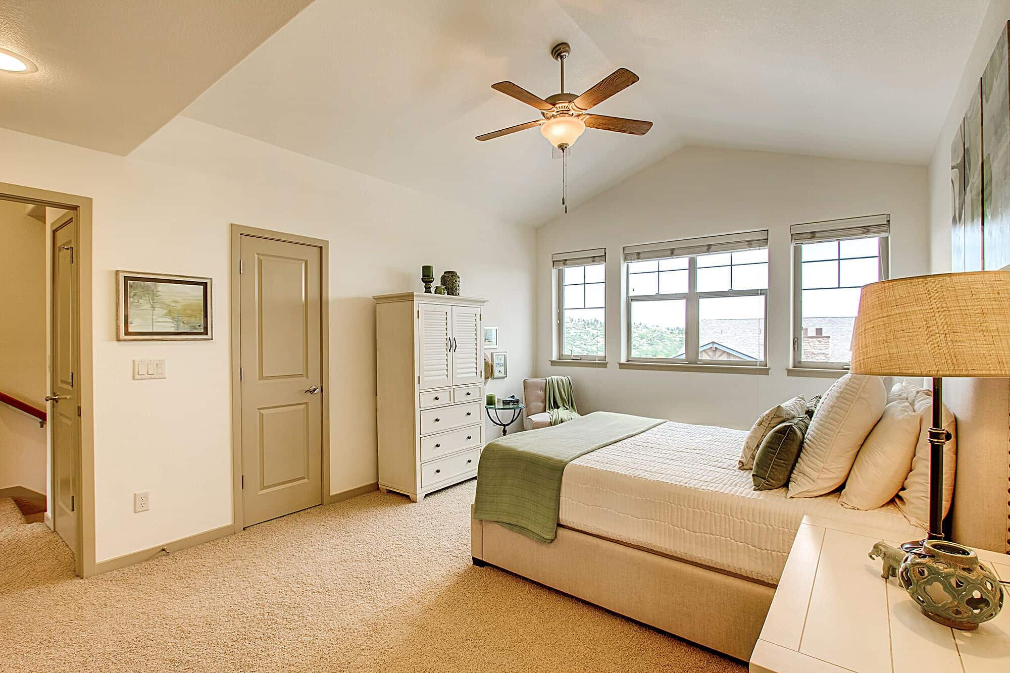 Master Bedroom with Walkin Closet and View Windows