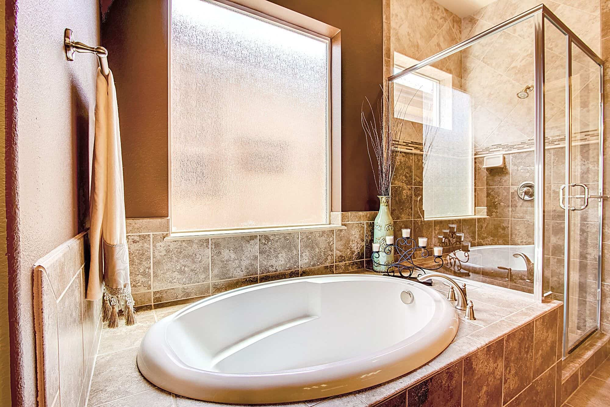 Master Soaking Tub and Shower