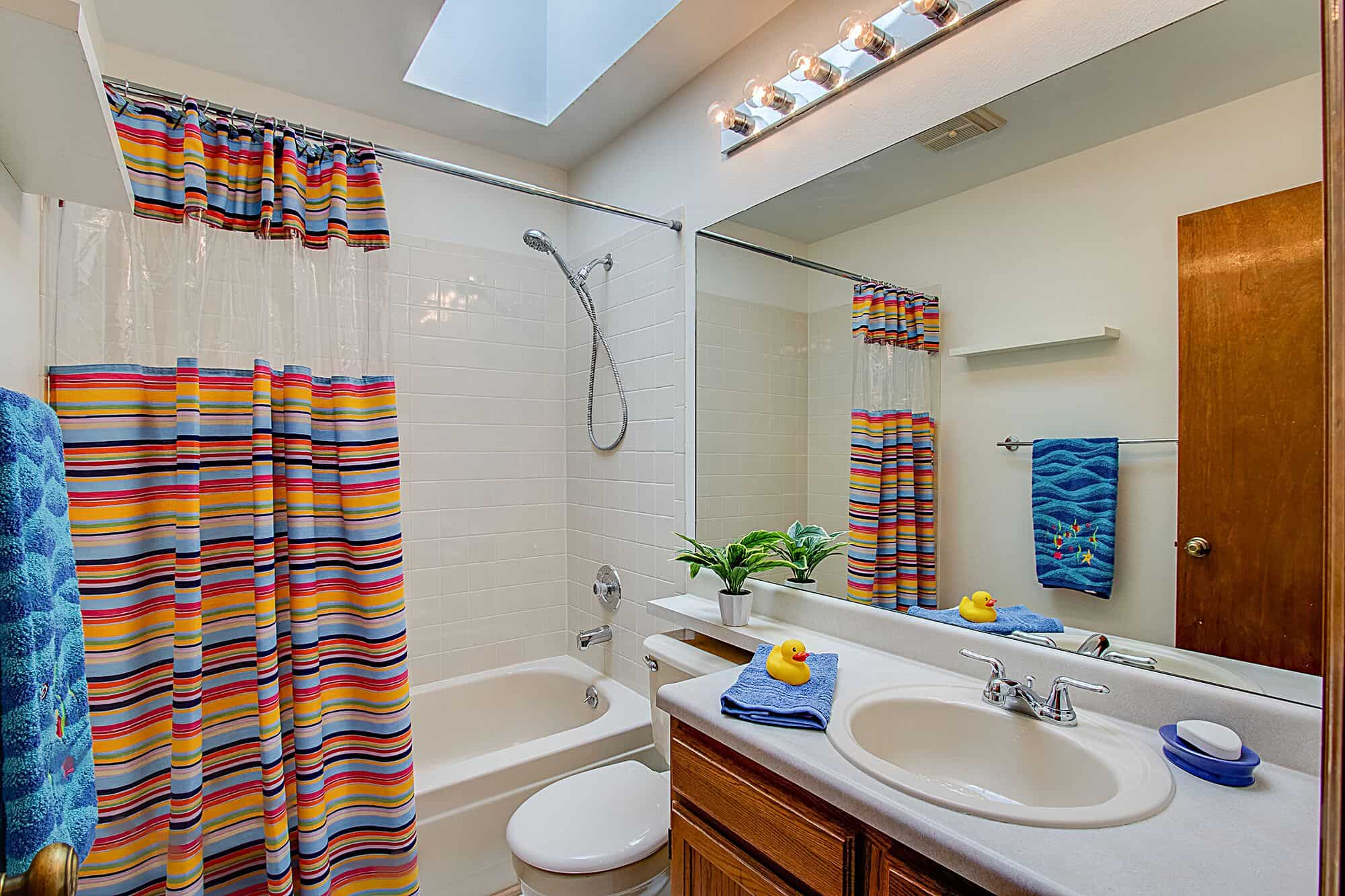 Upper Hall Bathroom With Skylight
