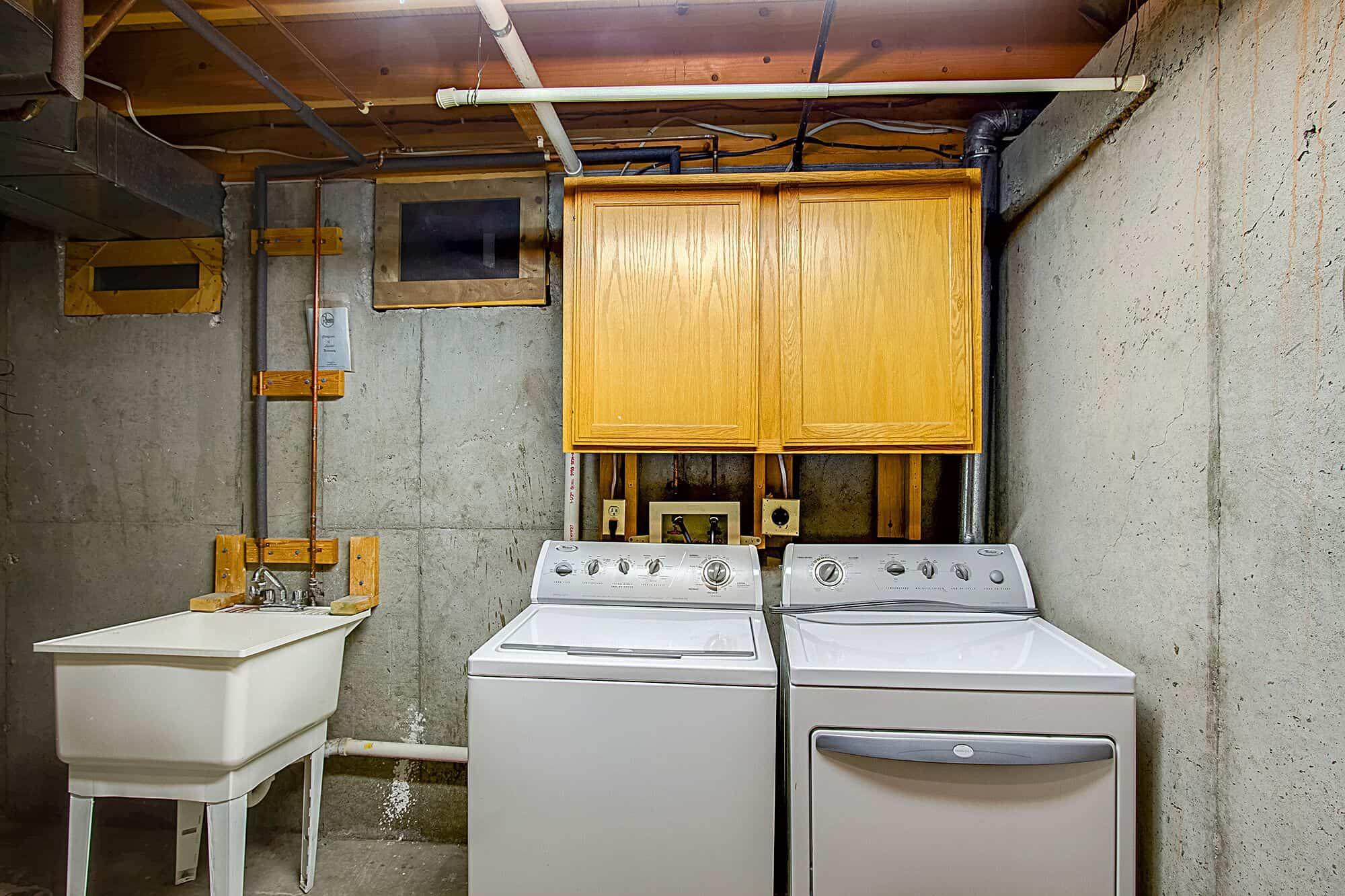 Basement Laundry And Mechanical Room