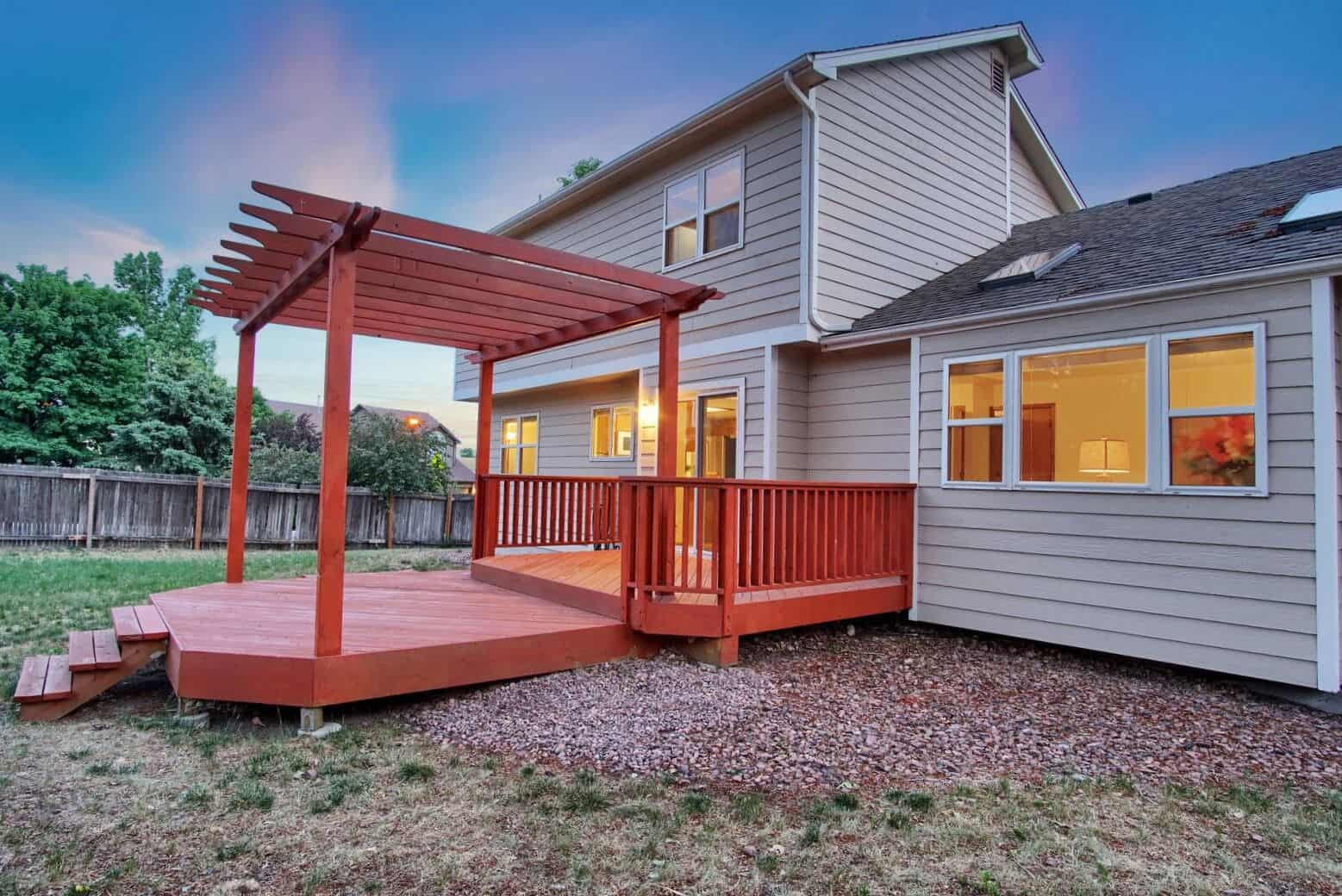 Large Deck with Pergola