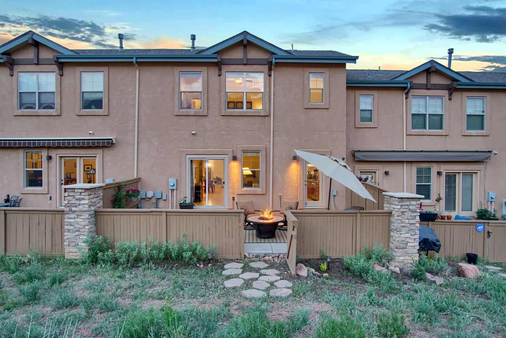 Large Fenced and Gated Rear Patio with Foothill Views
