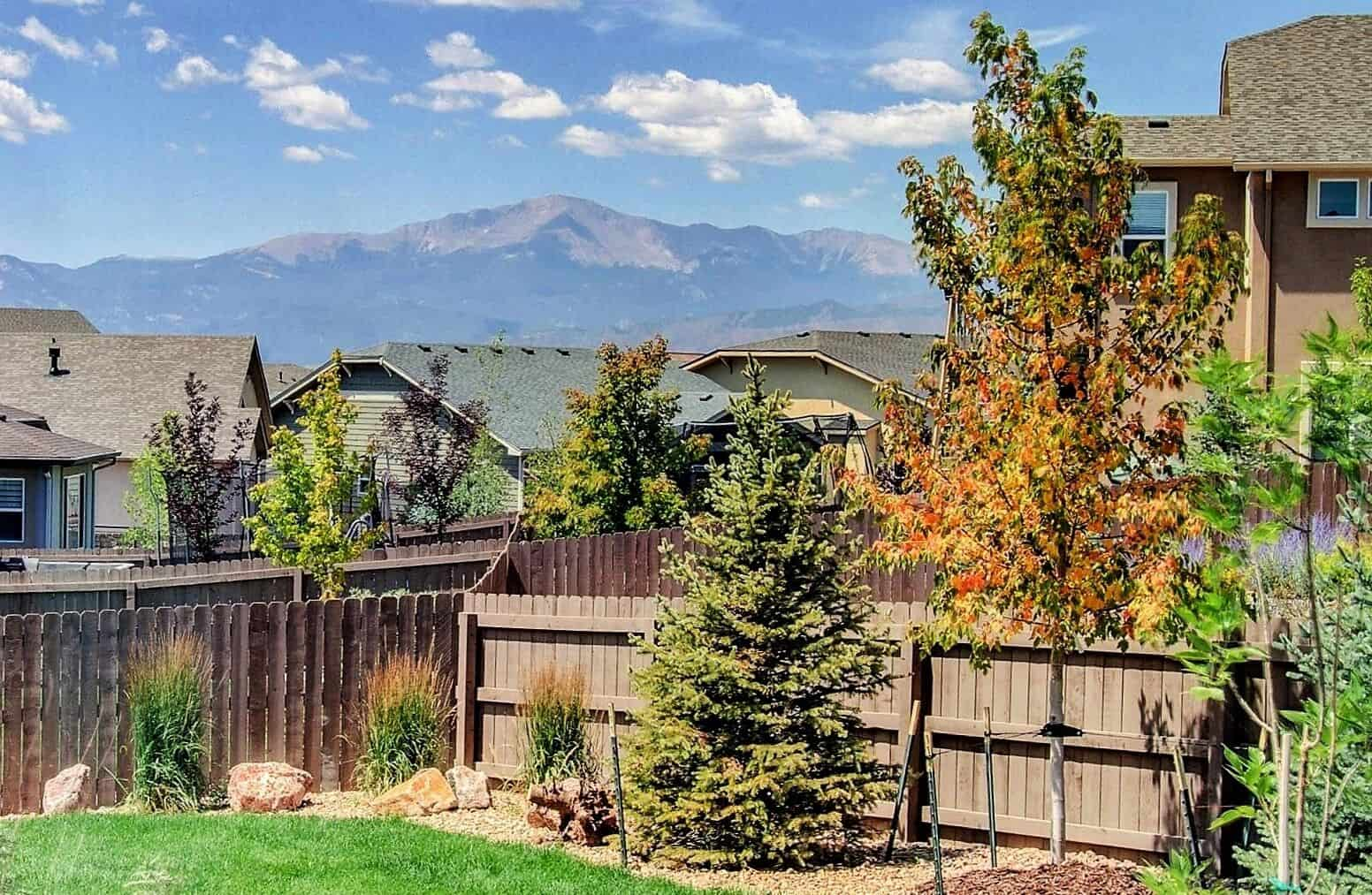 View of Pikes Peak from Backyard