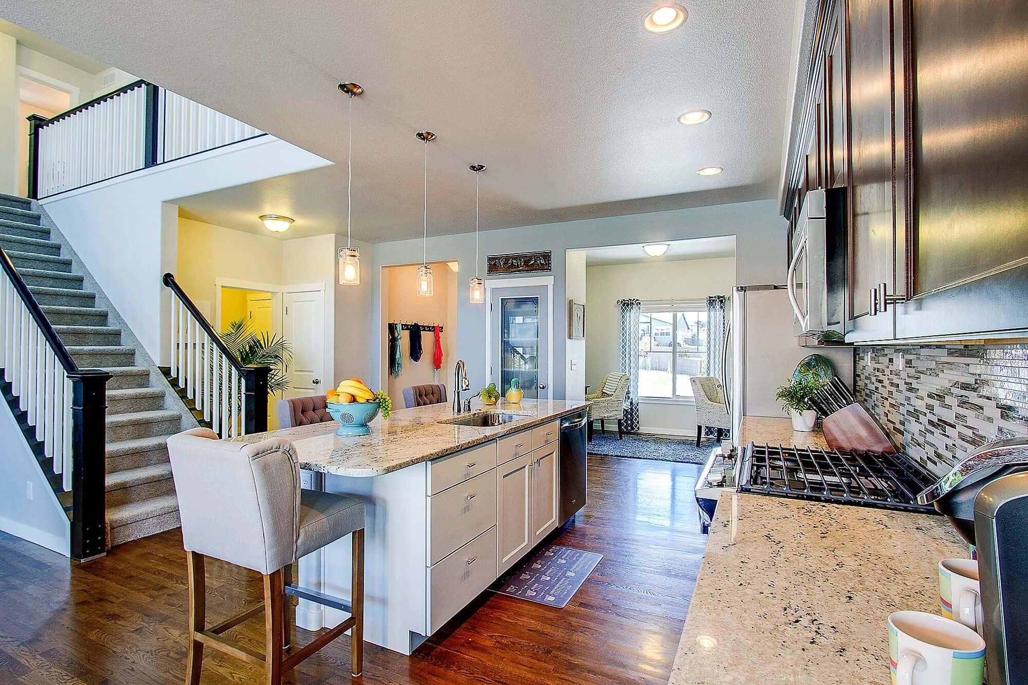 Entry, Kitchen, Flex Room-Office