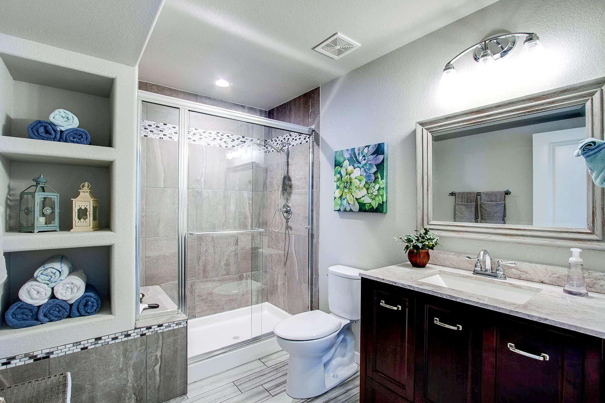 Stunning Basement Bathroom