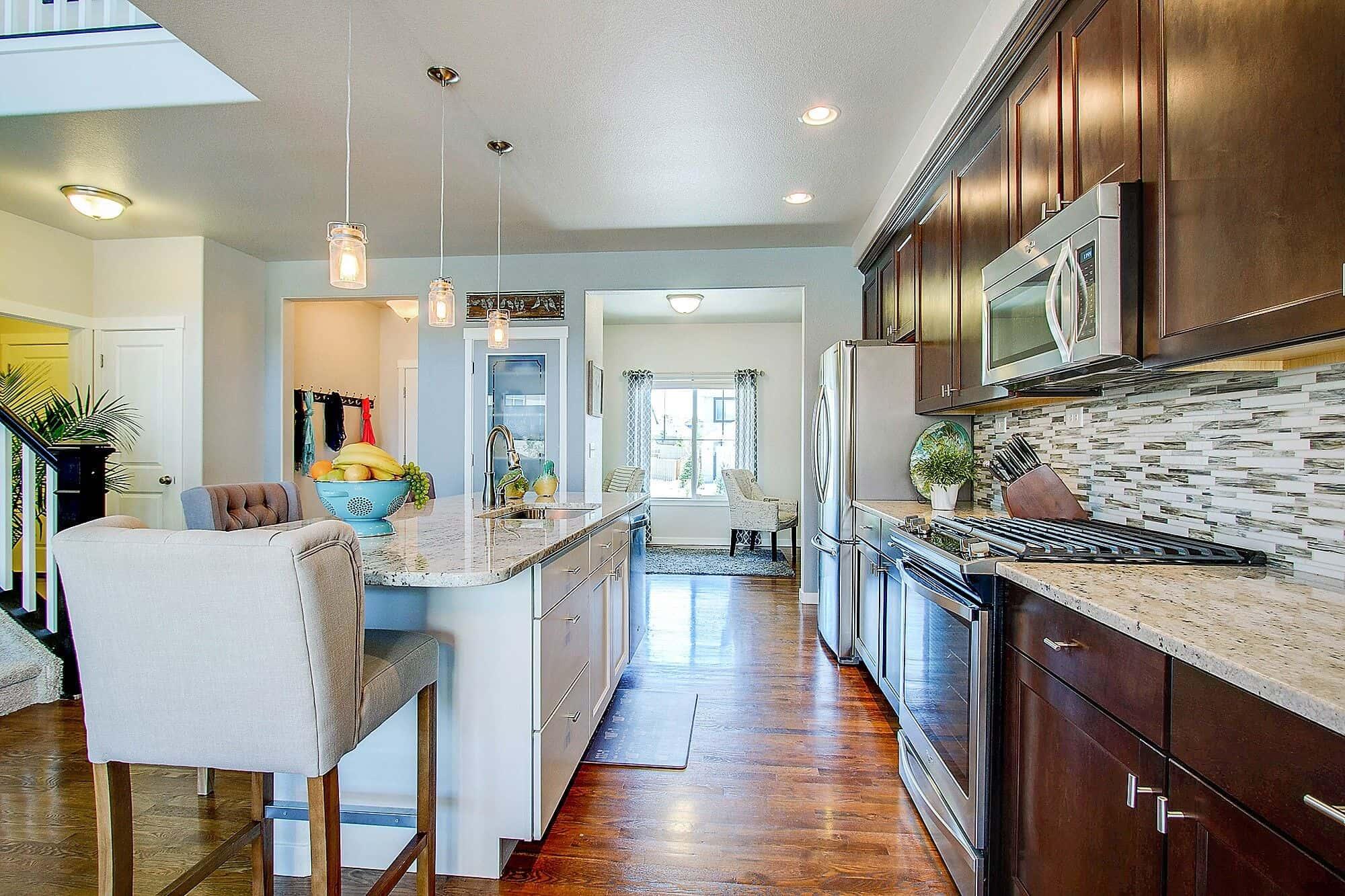 Kitchen Detail into Flex Room-Office