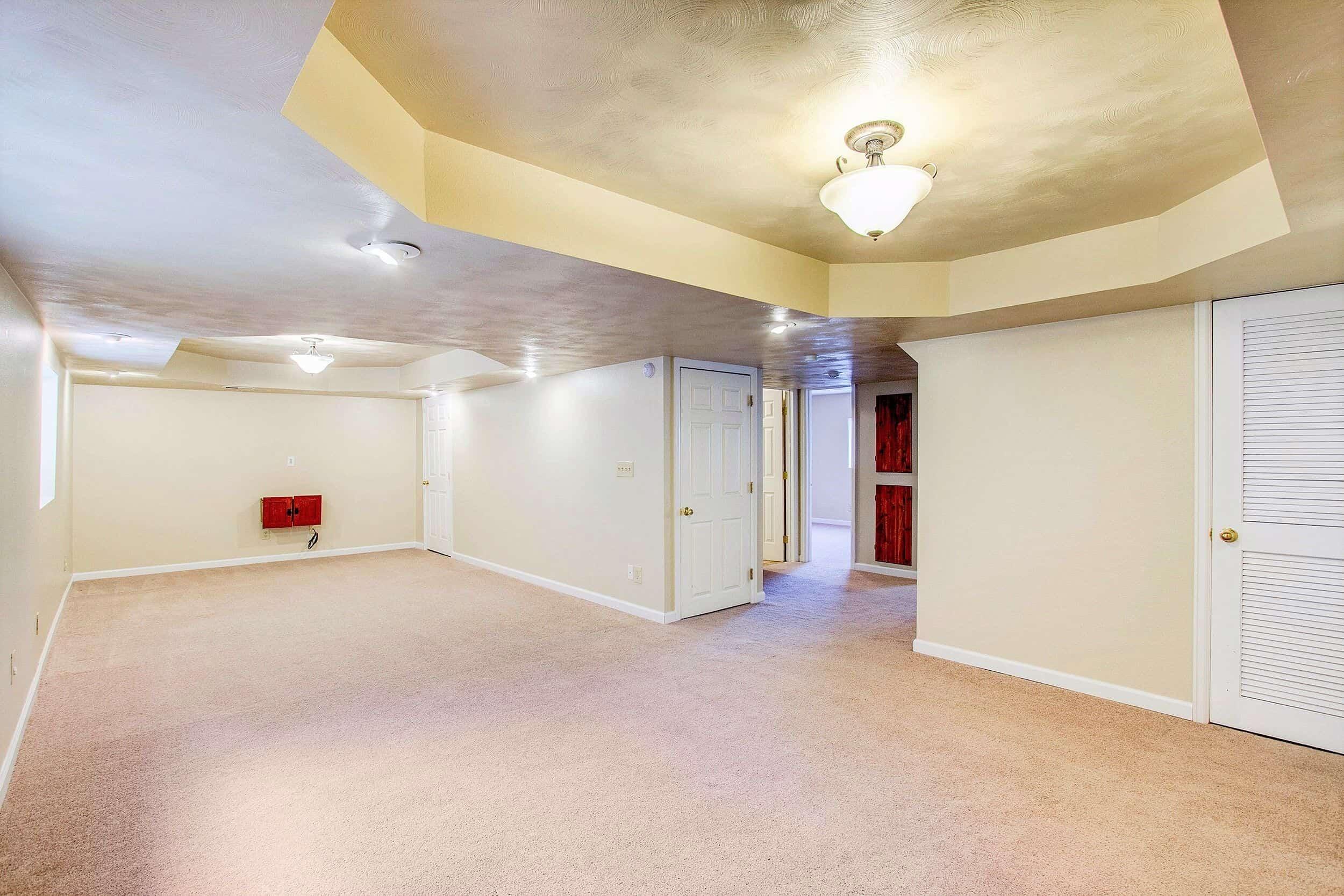 Large Open Basement Family Room