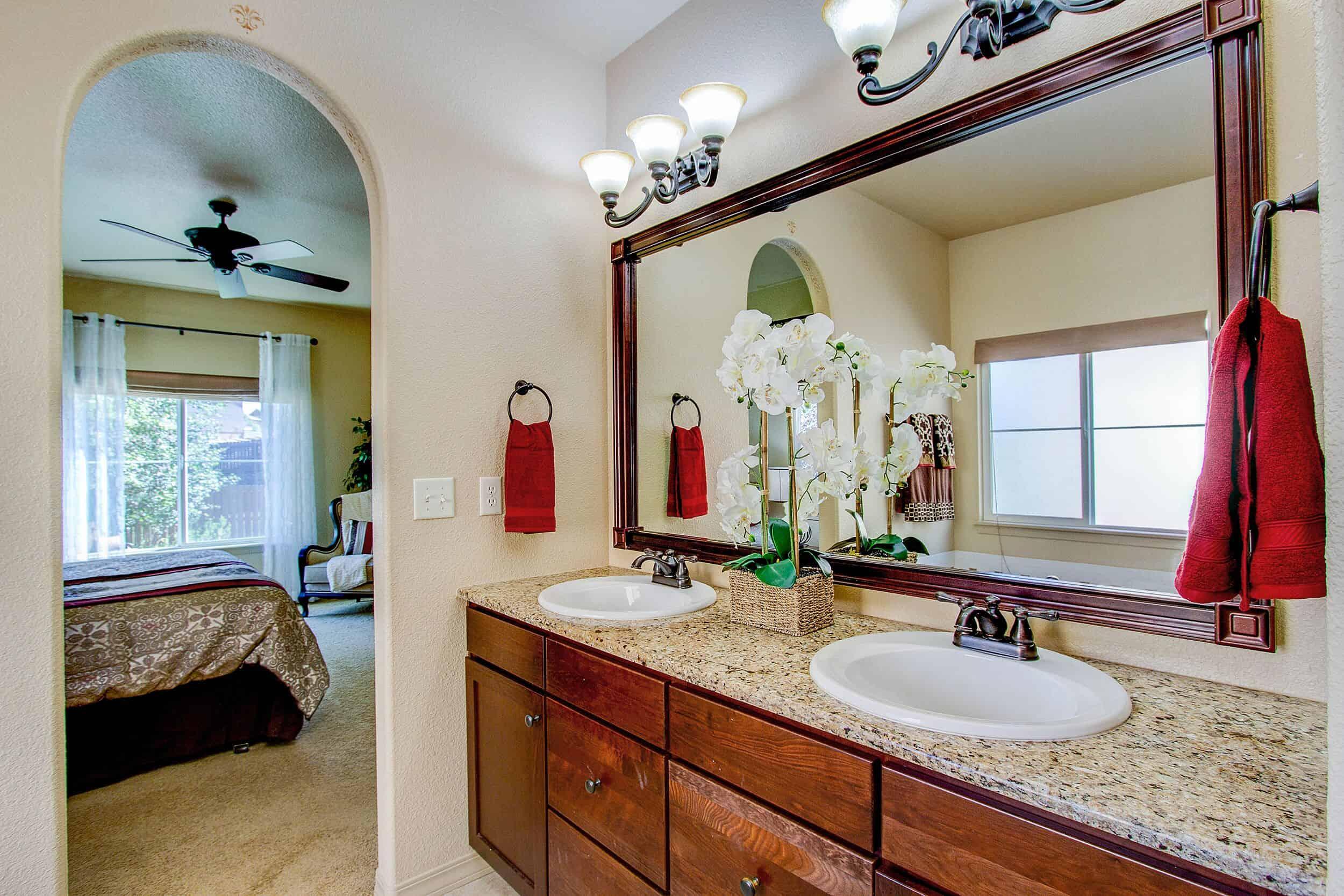 Master Bathroom into Master Bedroom