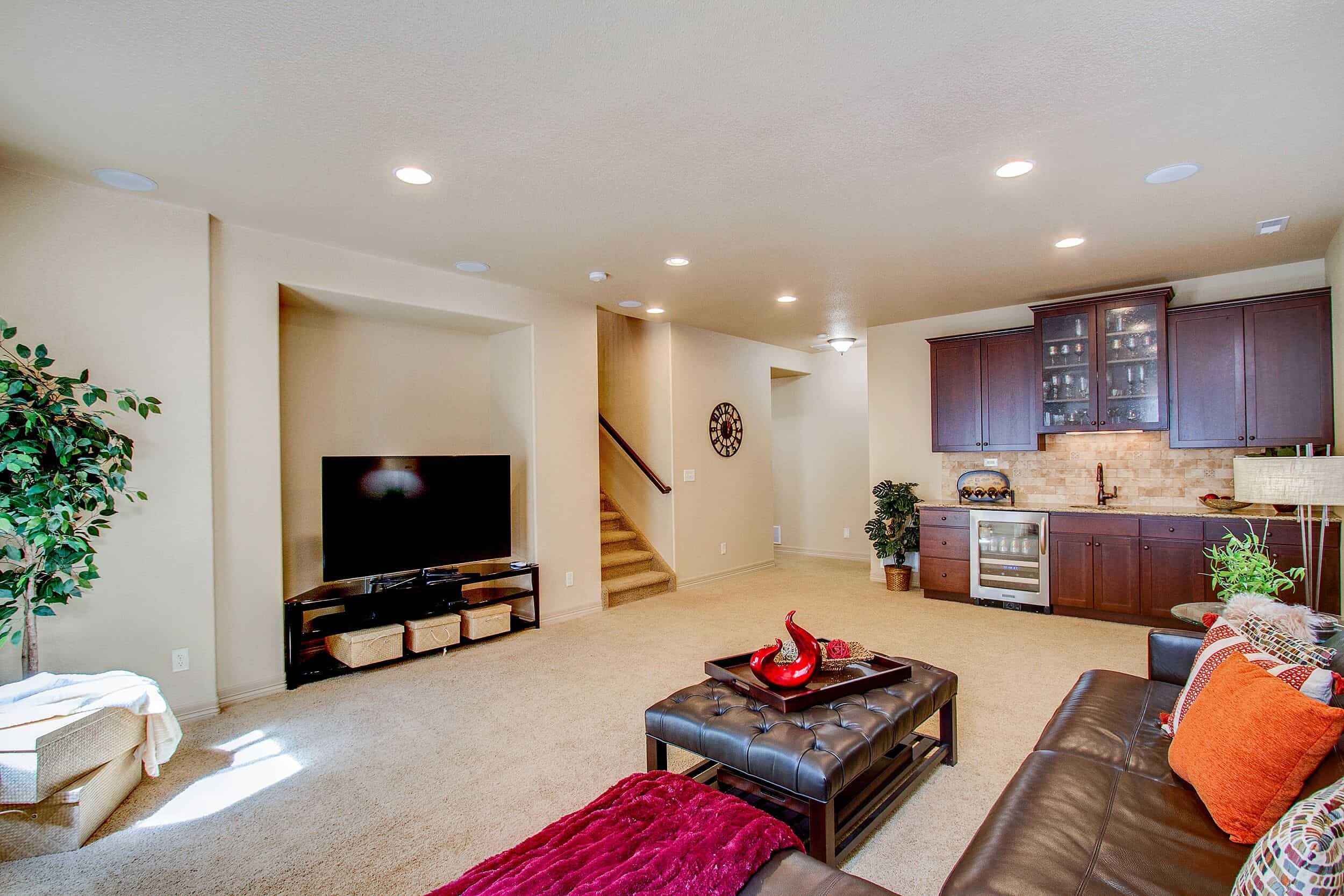 Family Room with Entertainment Recess