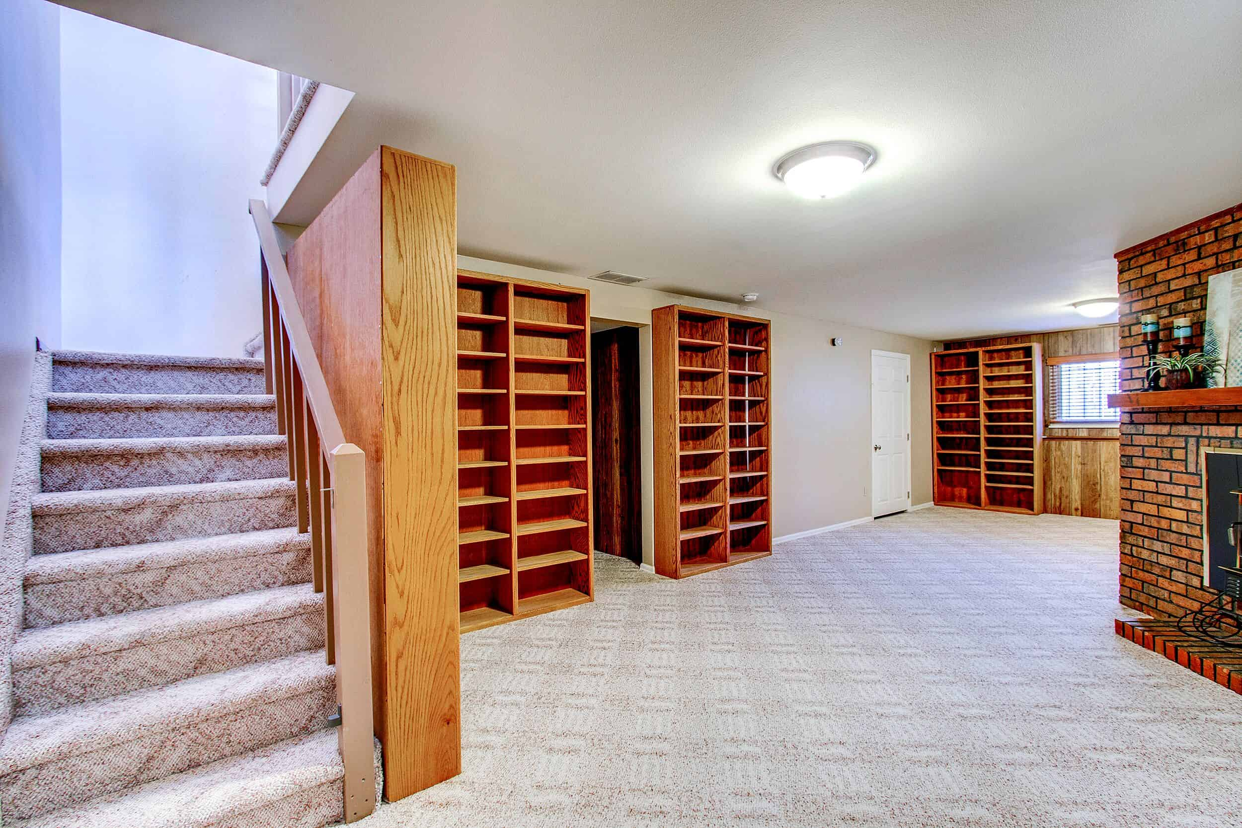 Stairs to Basement Recreation Room