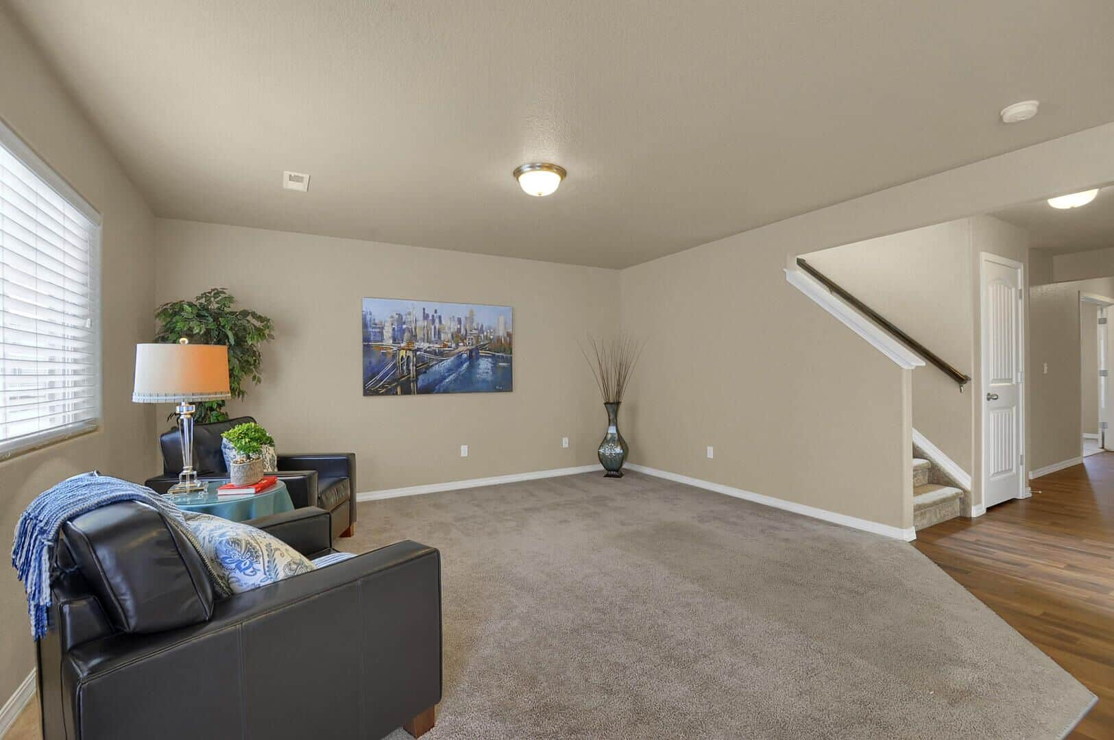 Great Room and Stairs to Upper Level