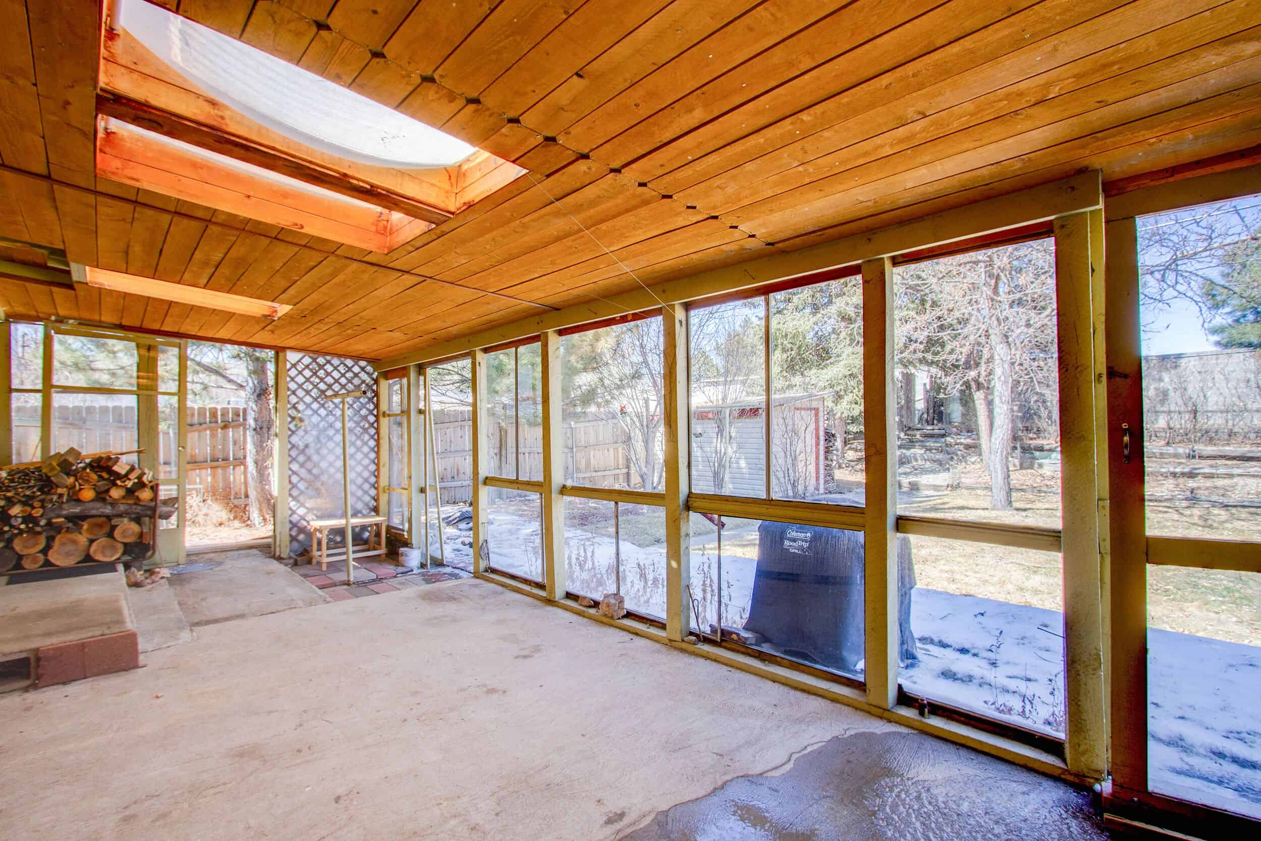 Enclosed Patio Room