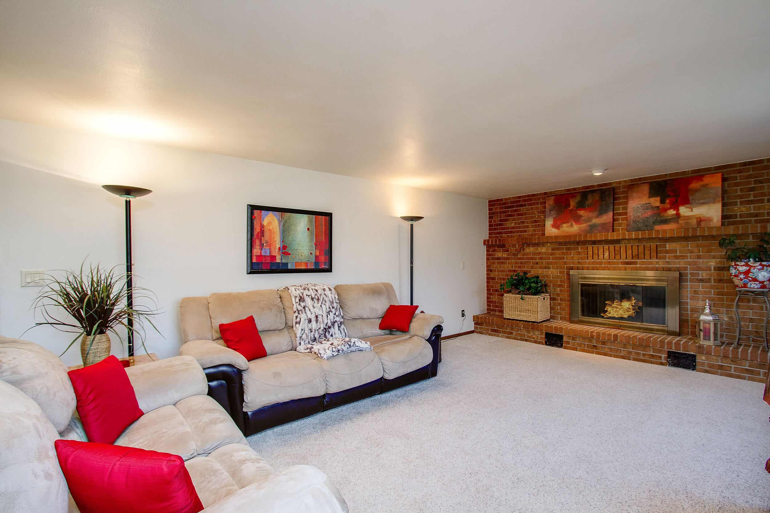 Family Room with Gas-Log Fireplace