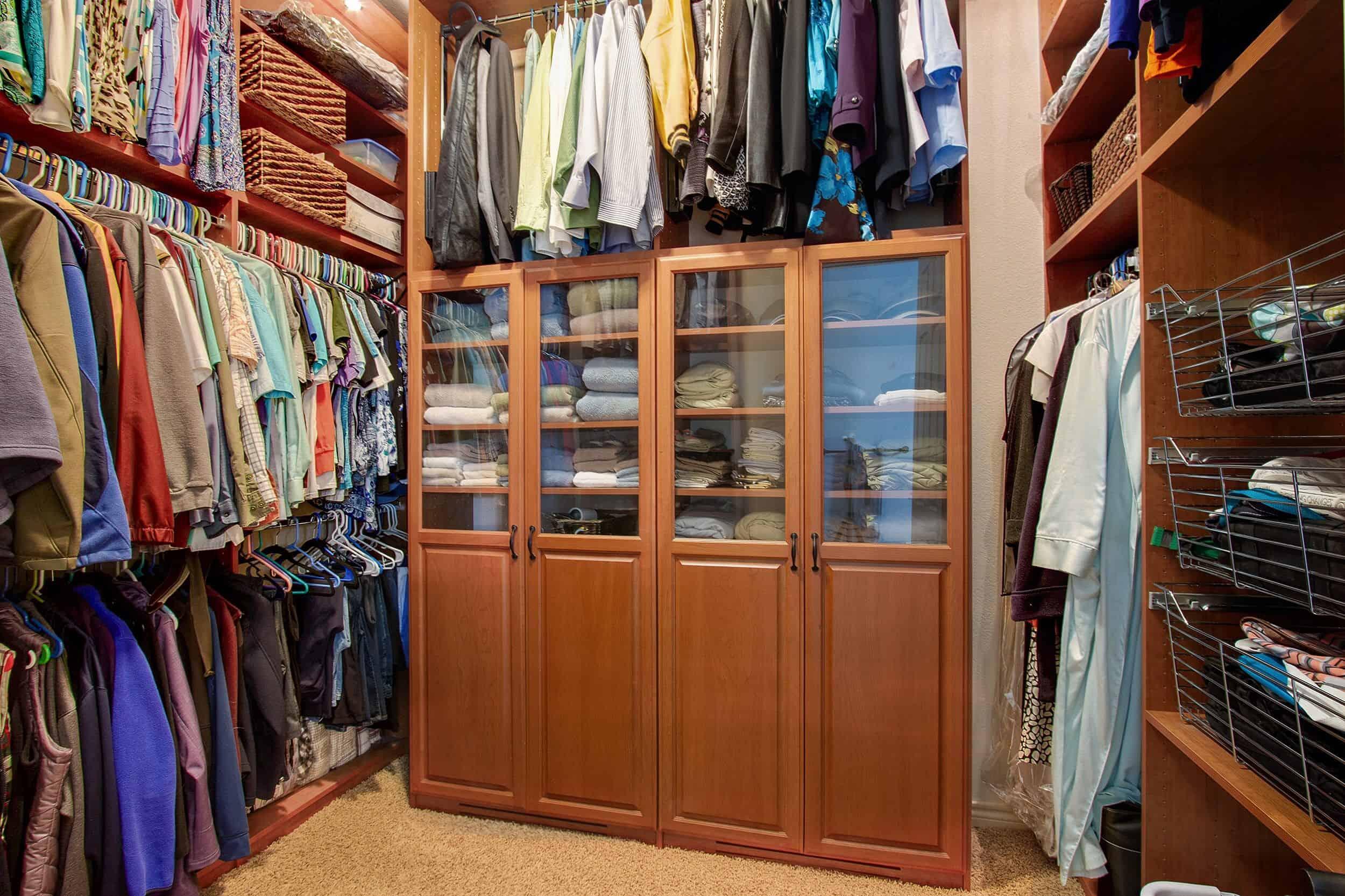Custom Walk-In Closet with Organizer