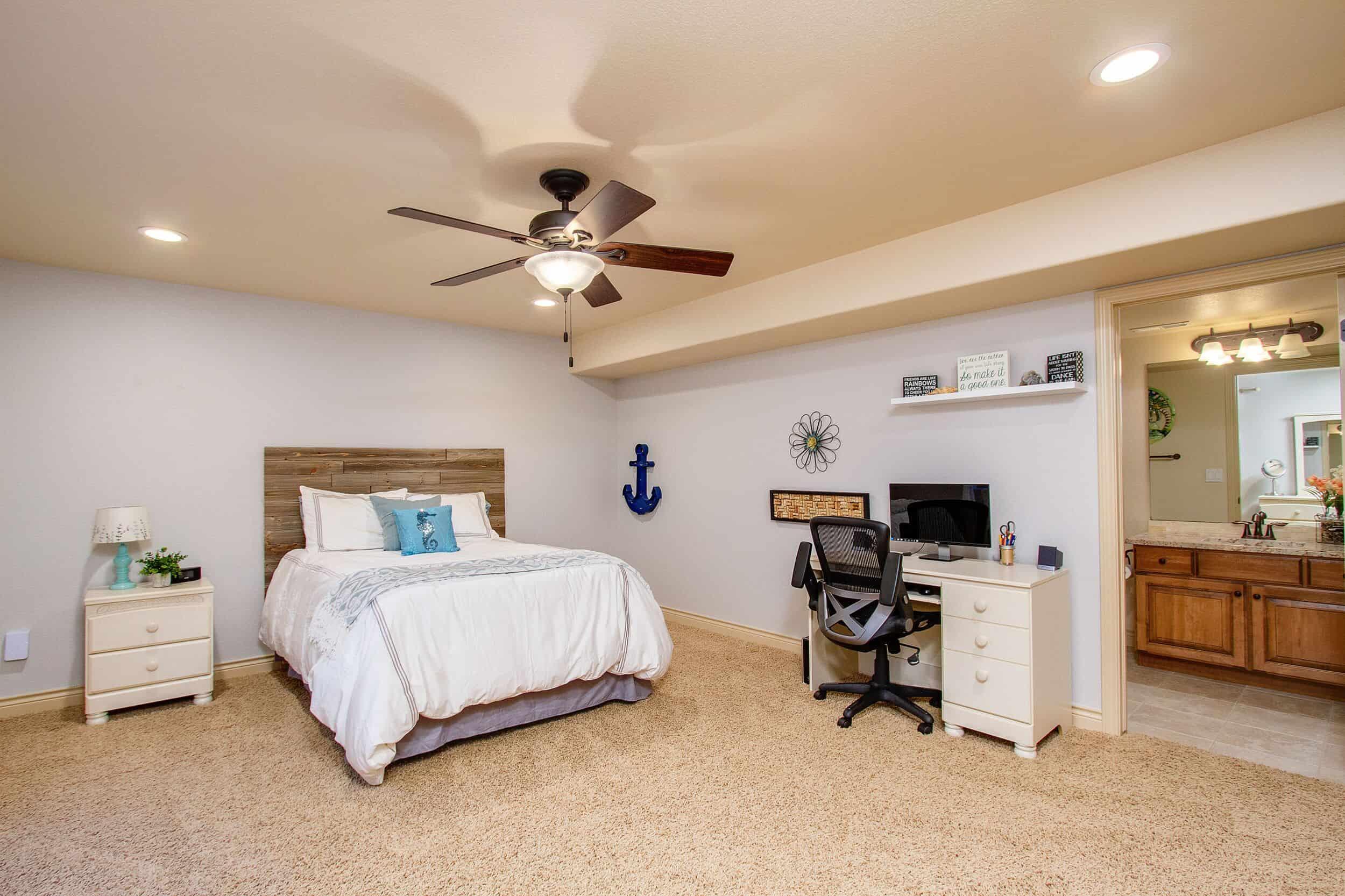 Basement Bedroom with Ensuite Bathroom