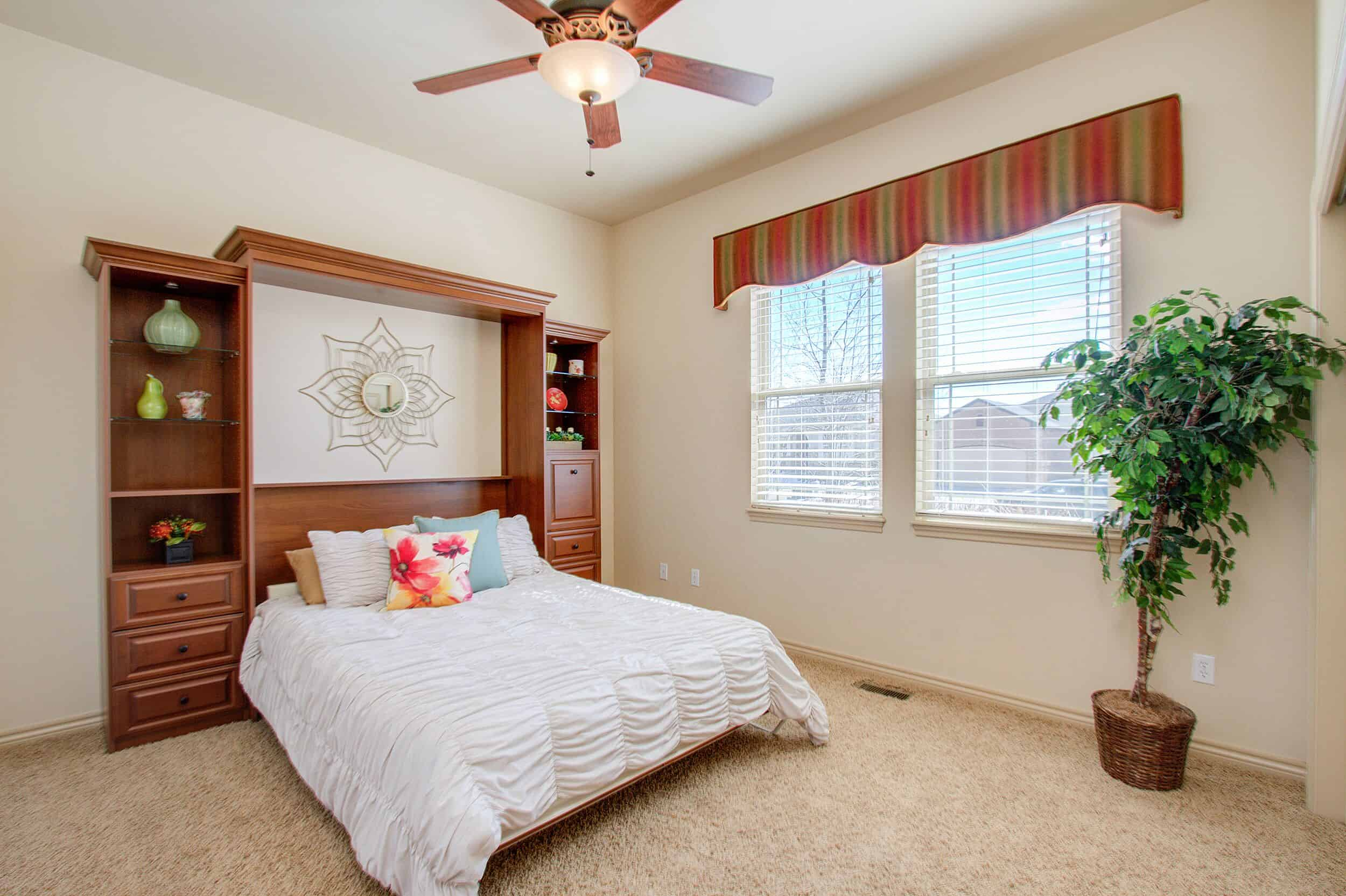 Main Level Bedroom with Built-In Murphy Bed