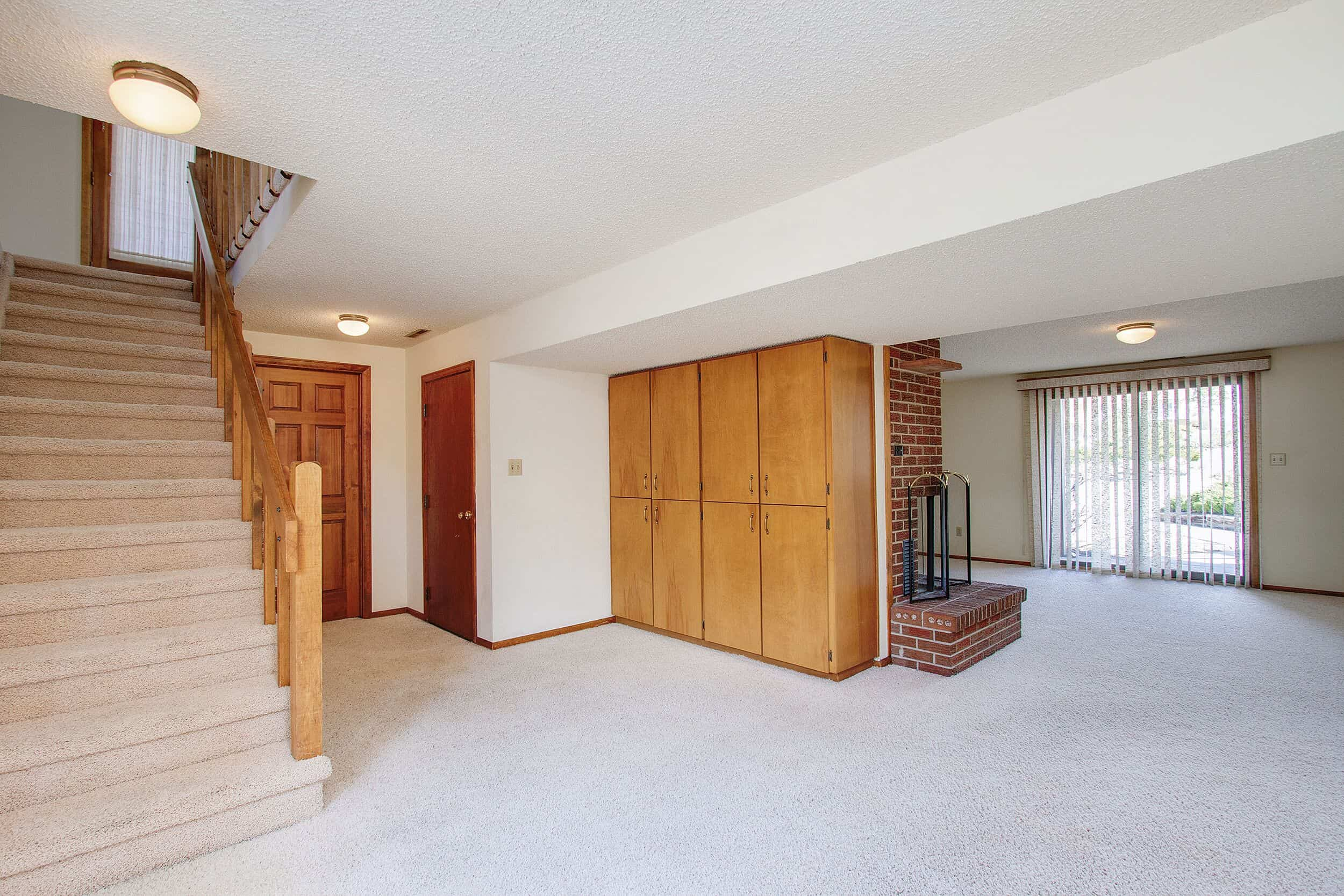 Walk-Out Basement with Built-Ins