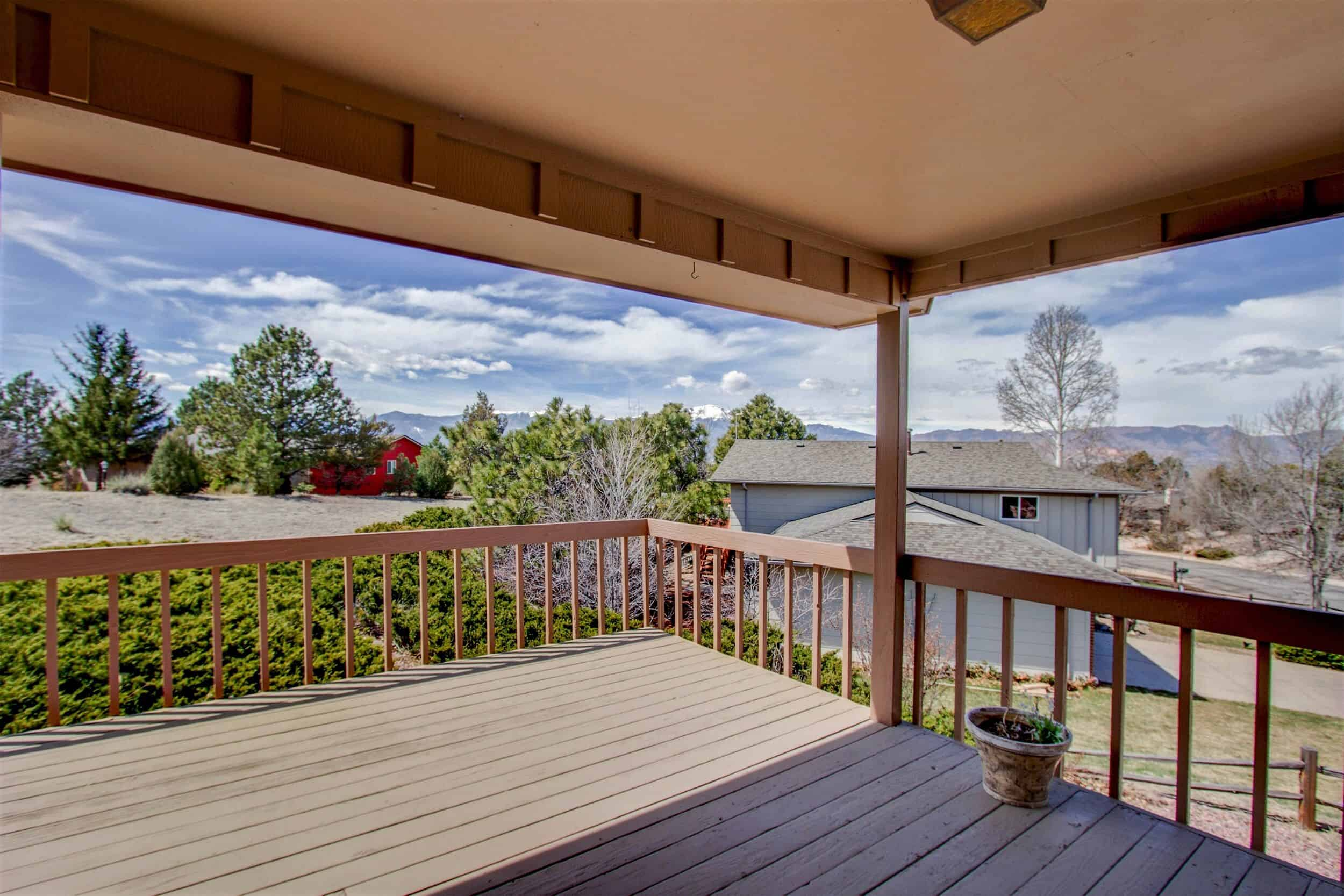 Rear Deck with Mountain Views