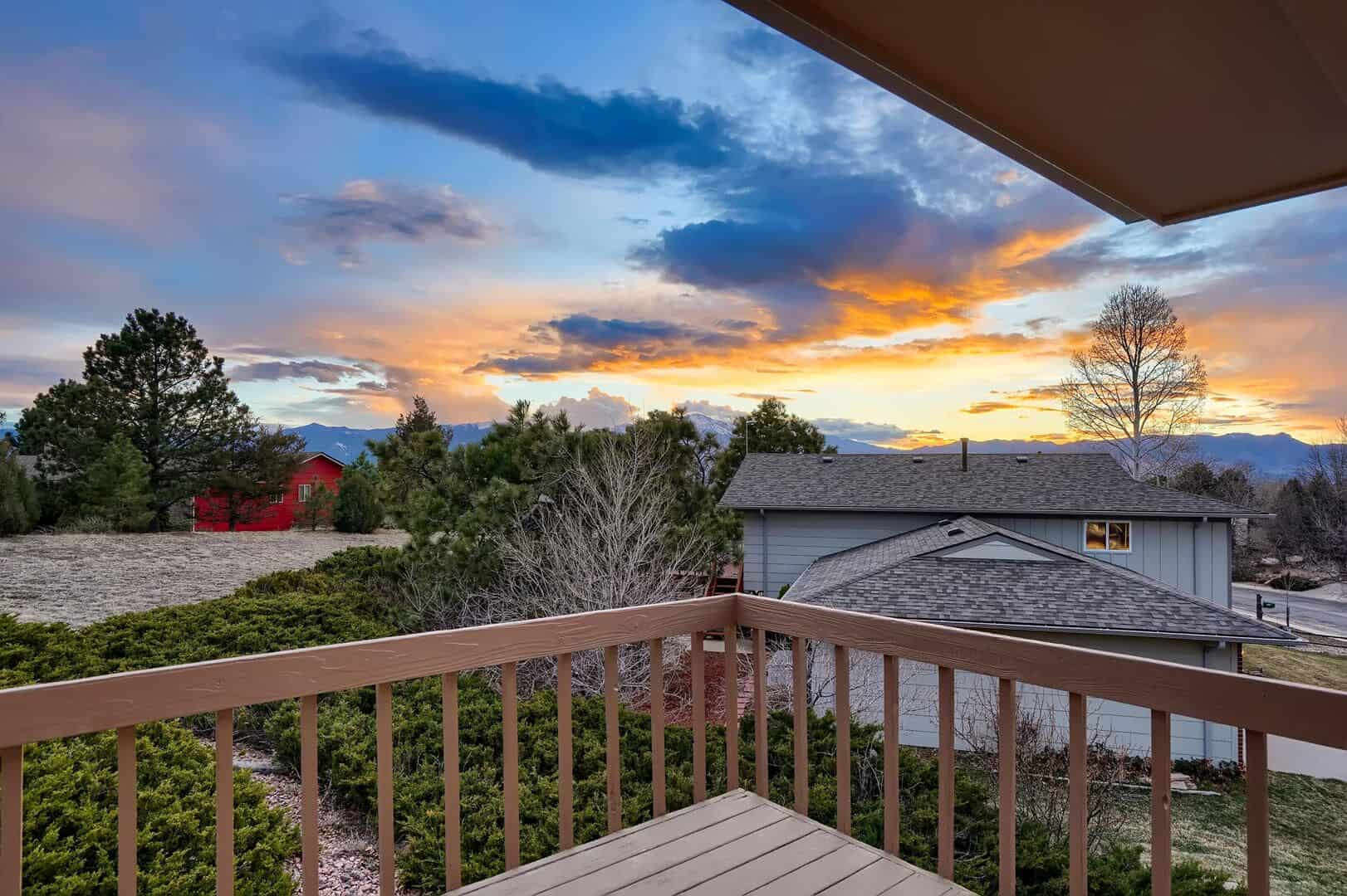 Amazing Sunset over Front Range from Rear Deck