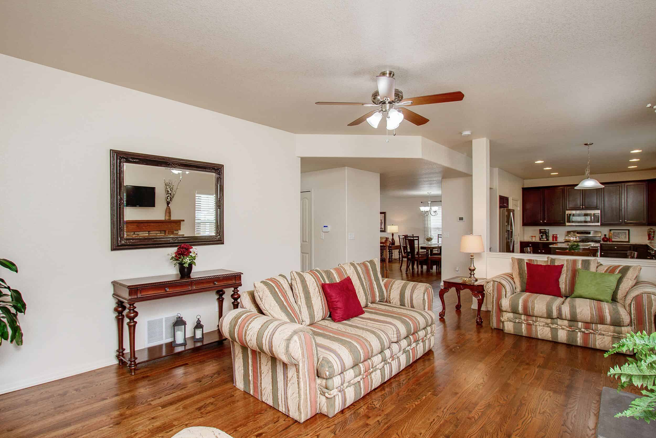 Family Room, Dining Room, Kitchen