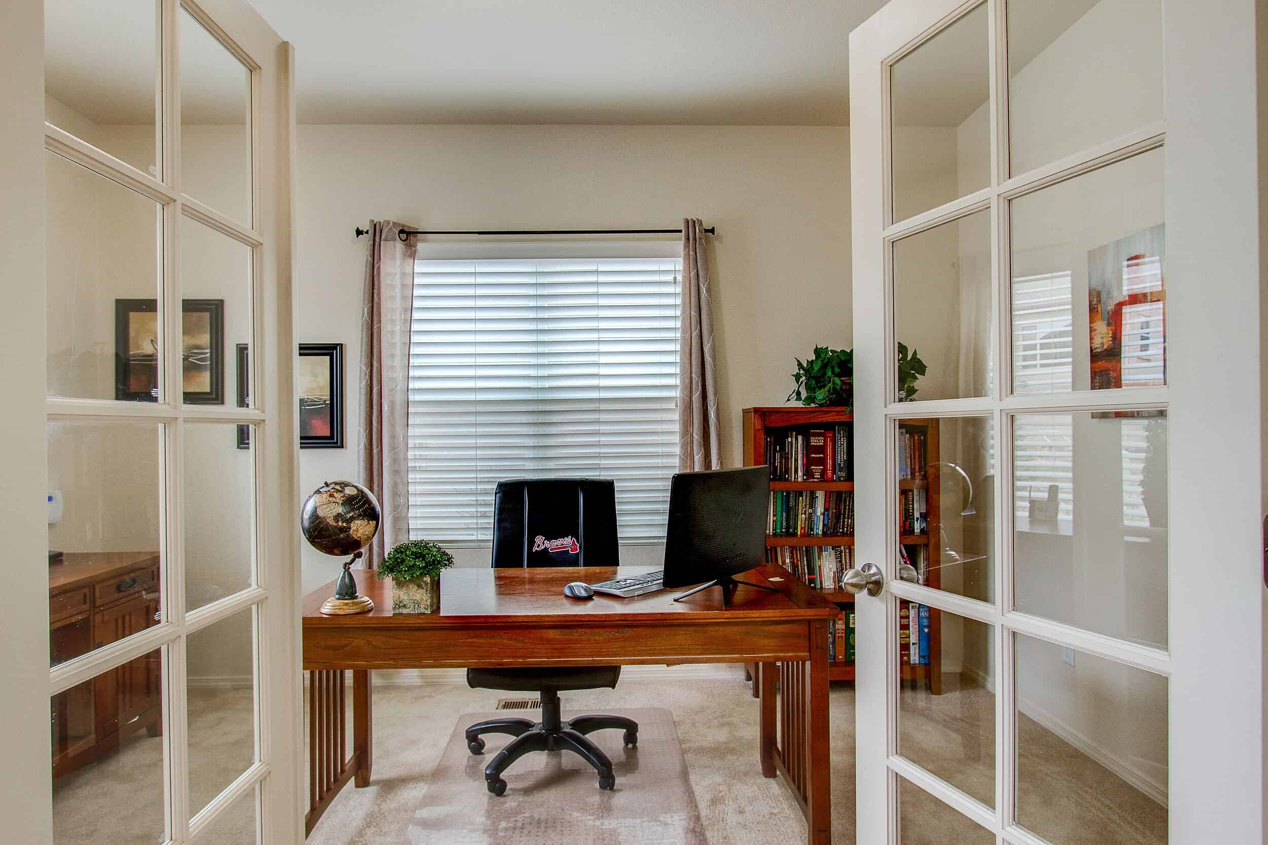 French Doors into Main Level Office