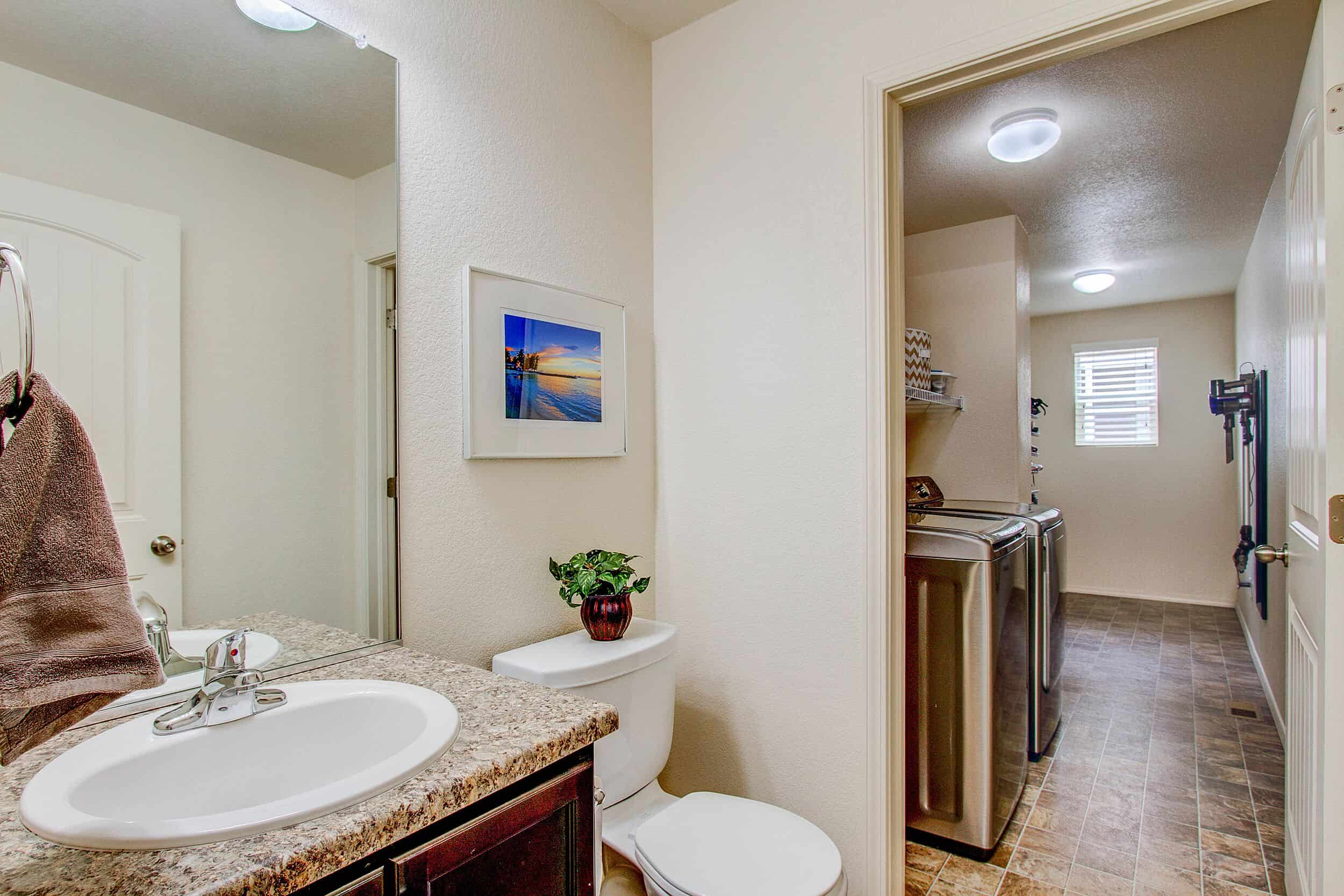 Powder Bathroom and Laundry Room