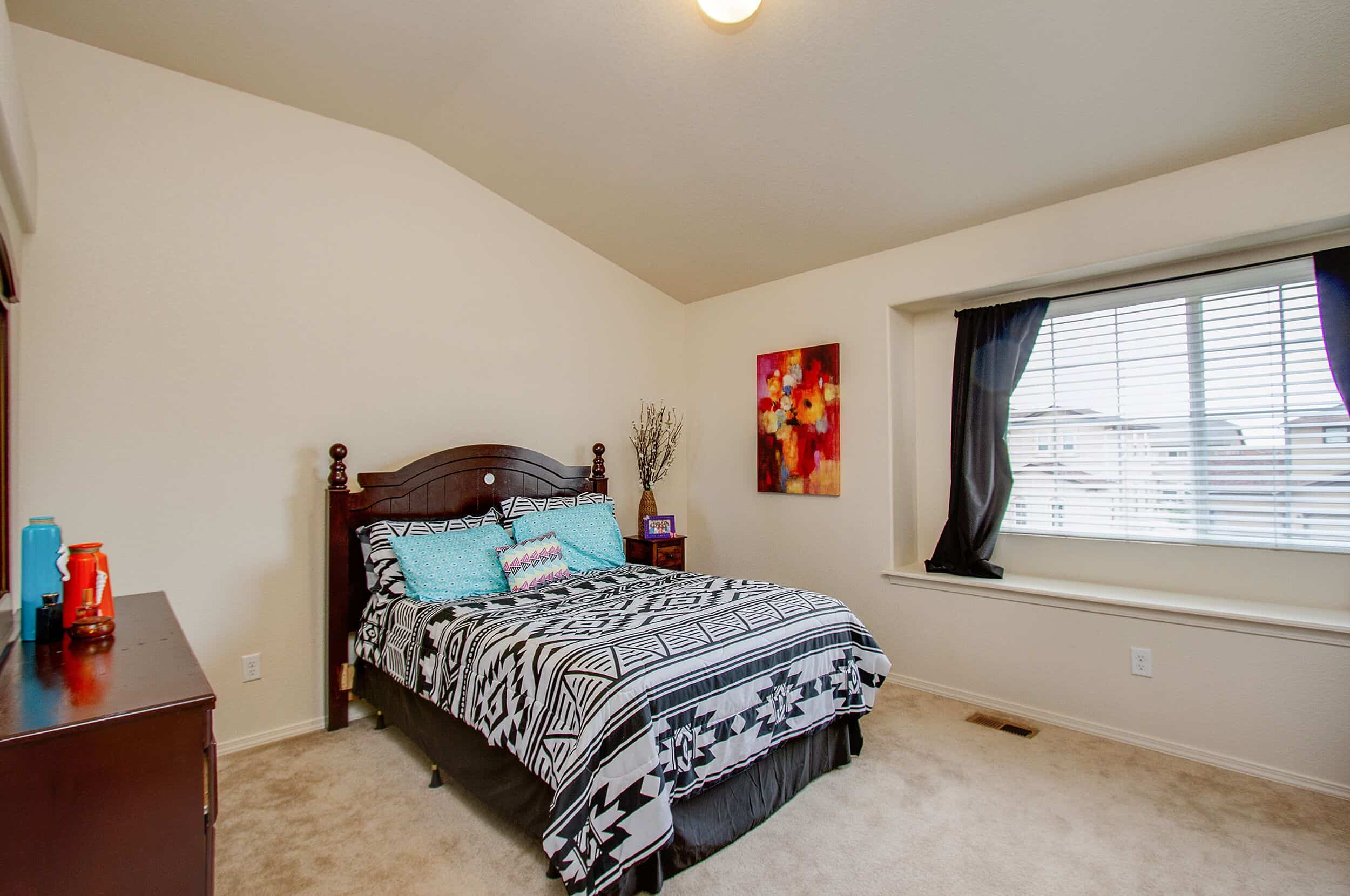 Upper Level Bedroom 3 with Window Seat