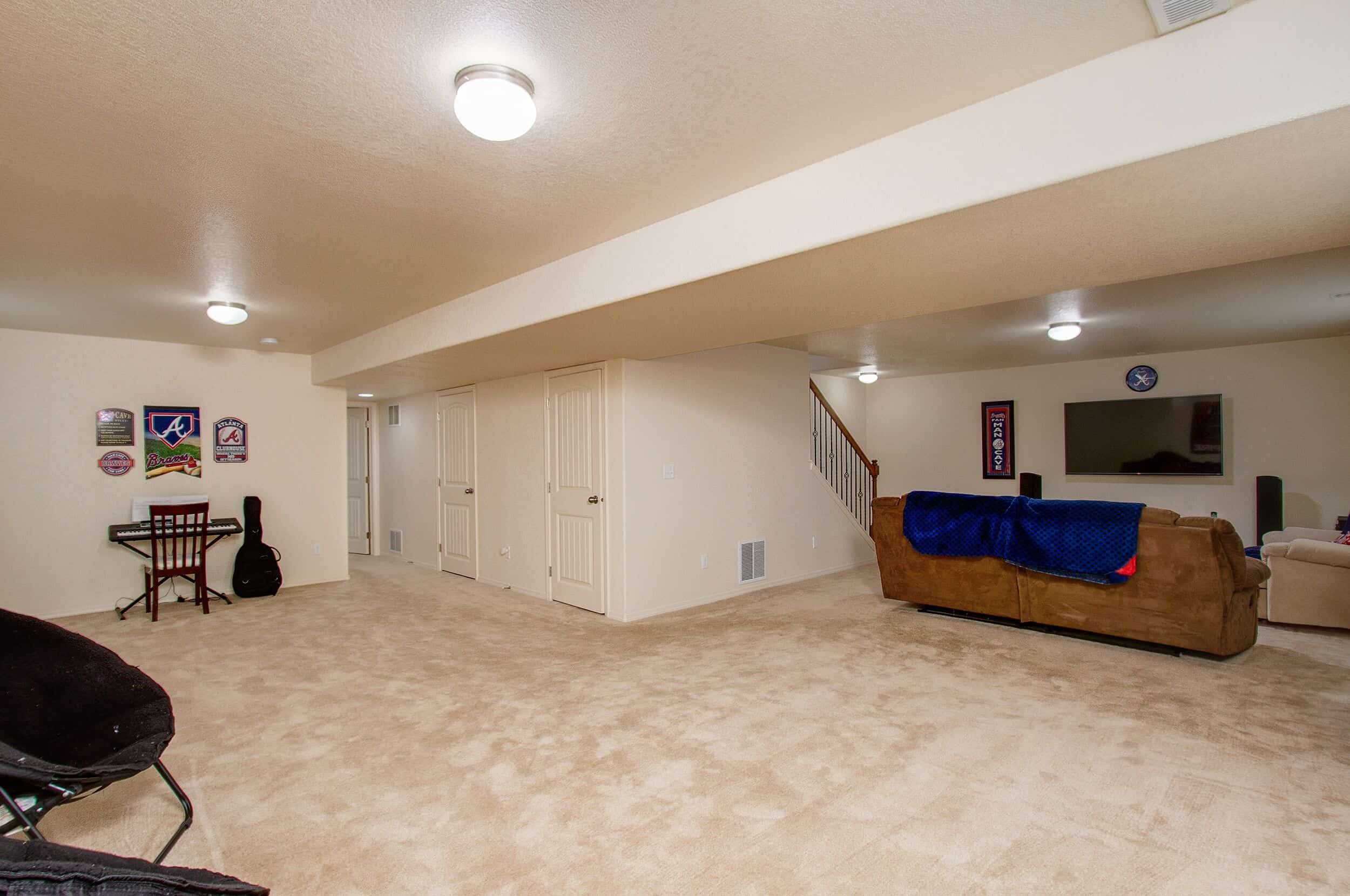 Basement Rec Room and Theater Room