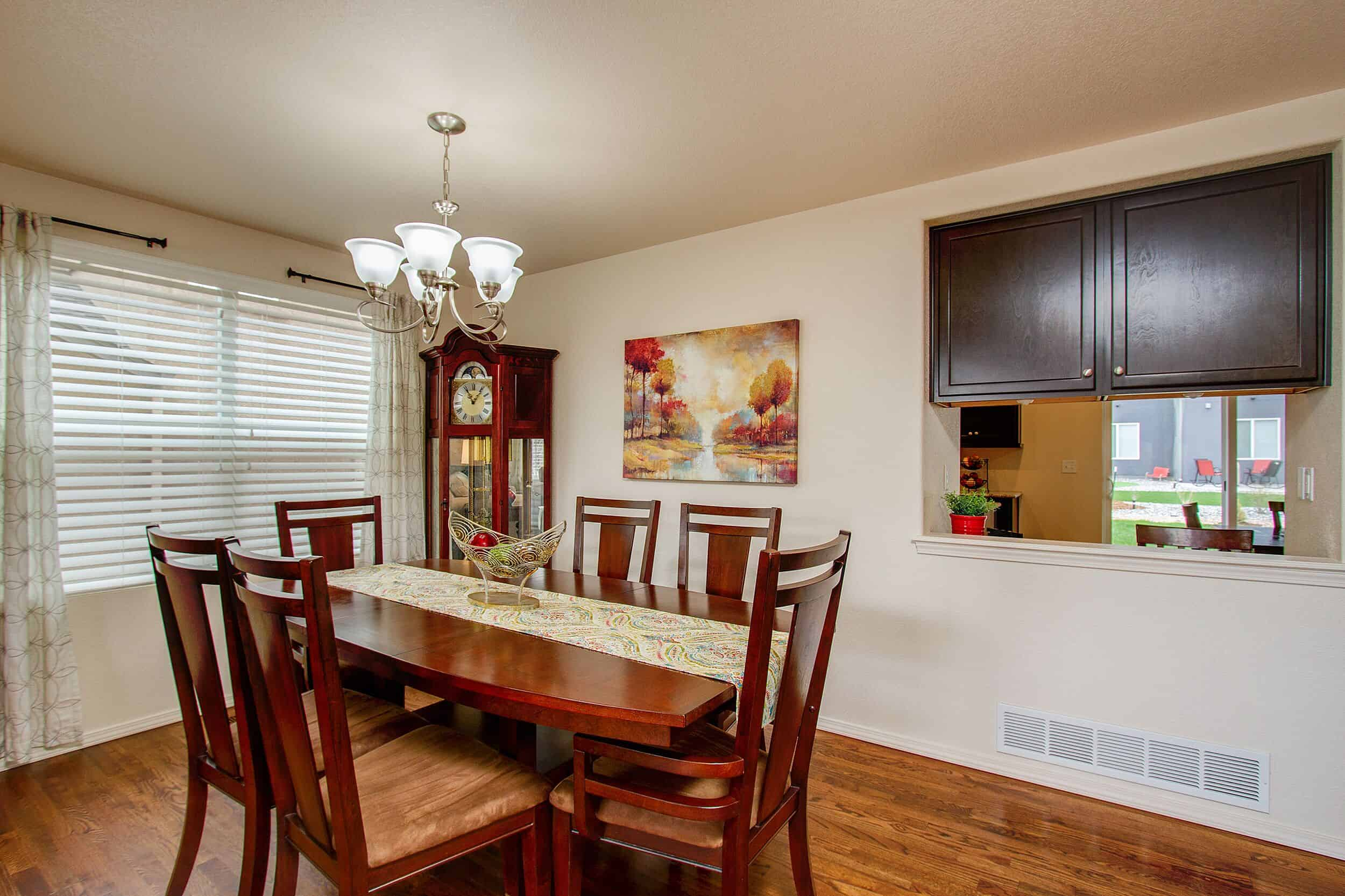 Formal Dining Room with Pass Thru to Kitchen