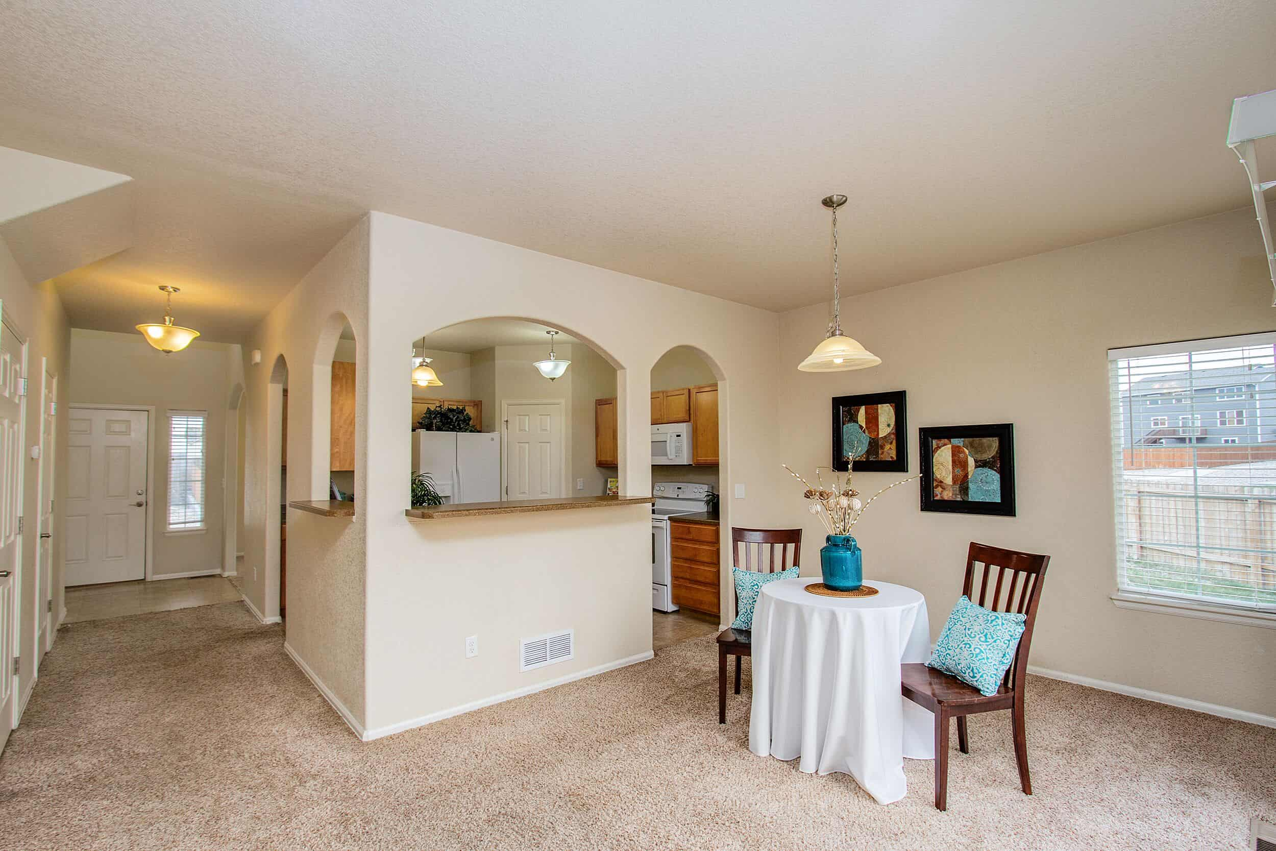 Walk-Out Dining Room with Pass Thru to Kitchen