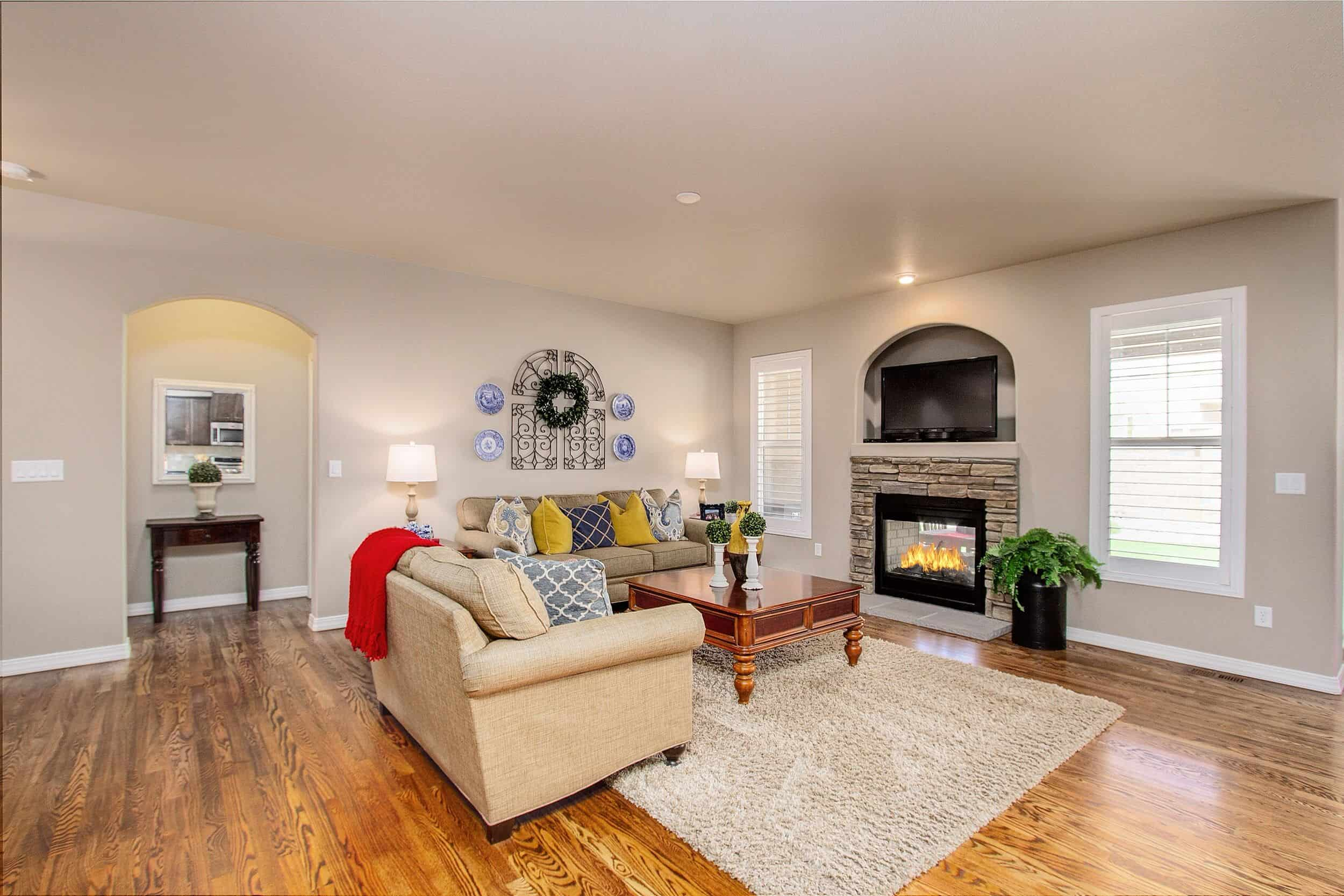 Great Room with Pass Thru Gas-Log Fireplace
