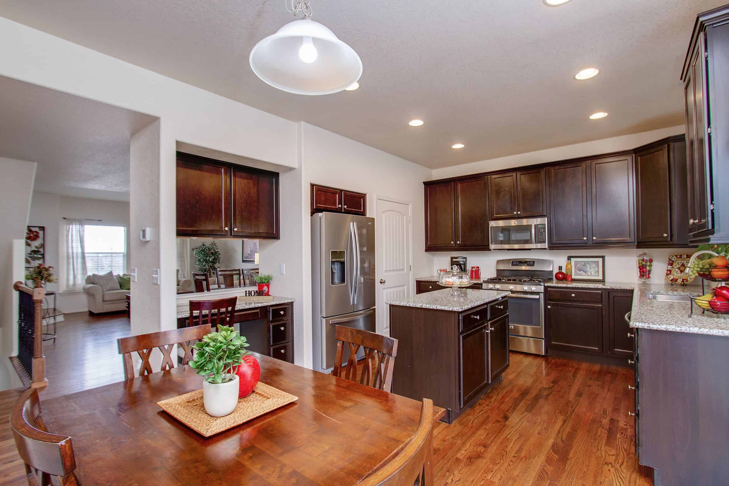 Gourmet Island Kitchen with Dining Nook