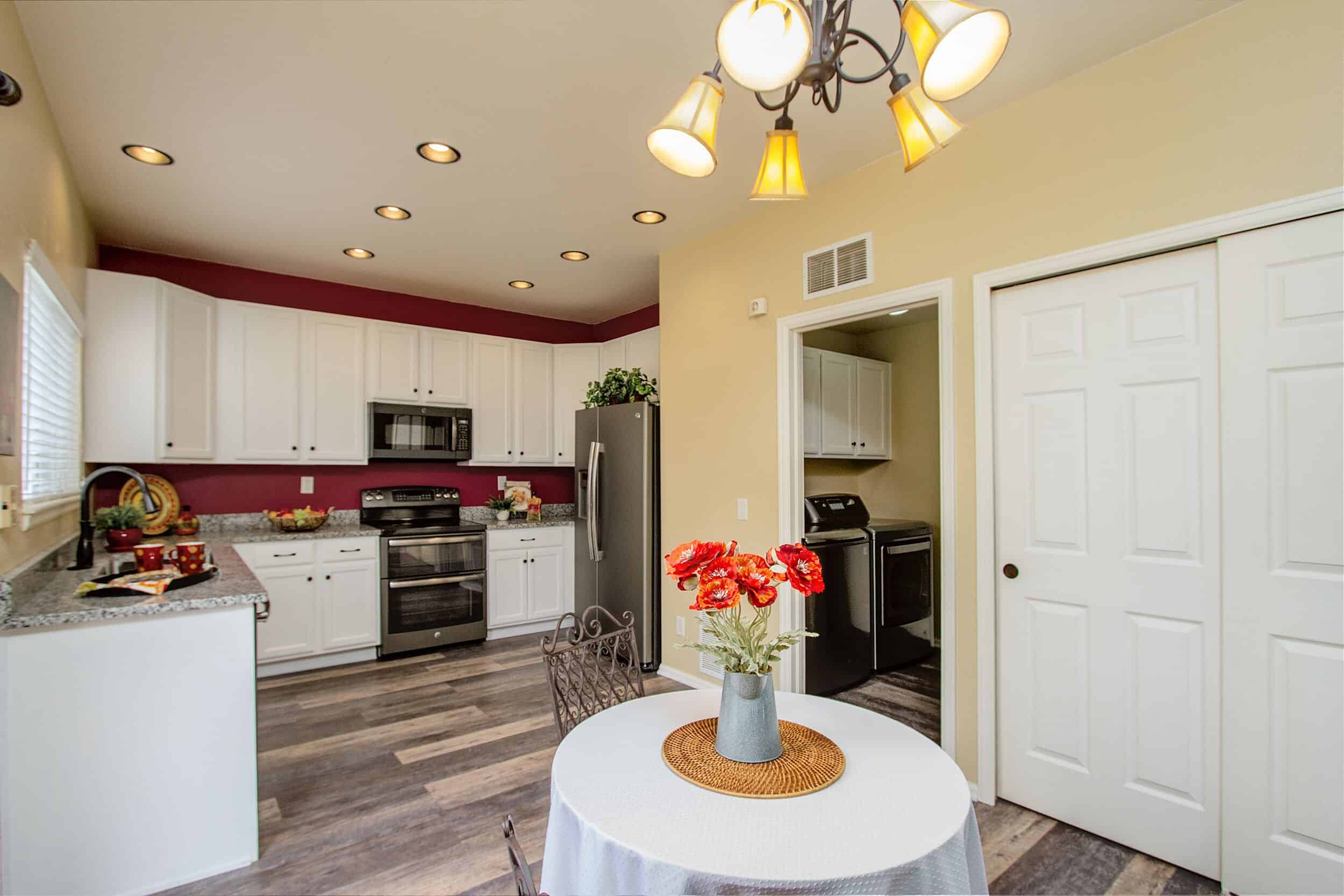 Kitchen into Laundry Room