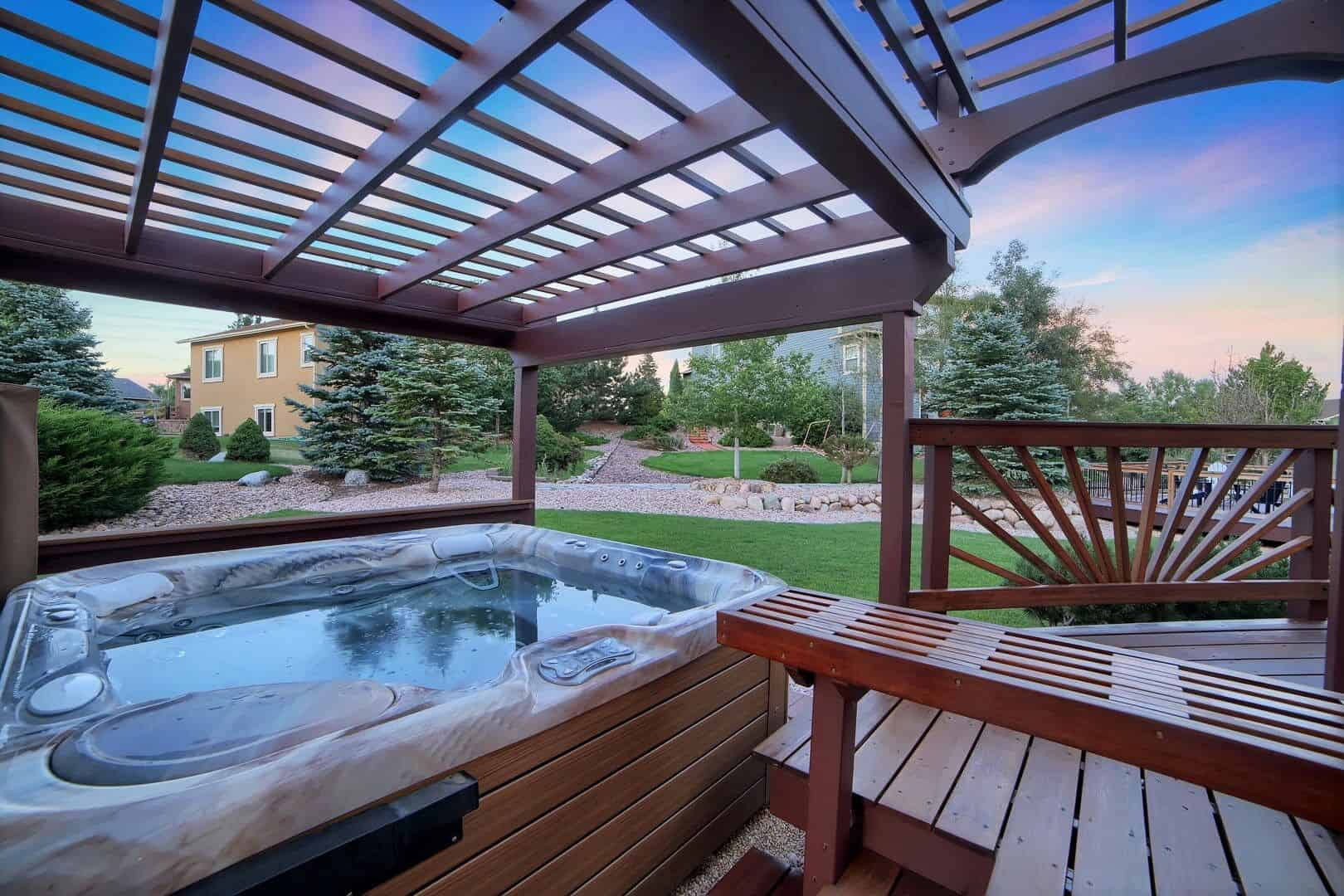 Pergola and Hot Tub