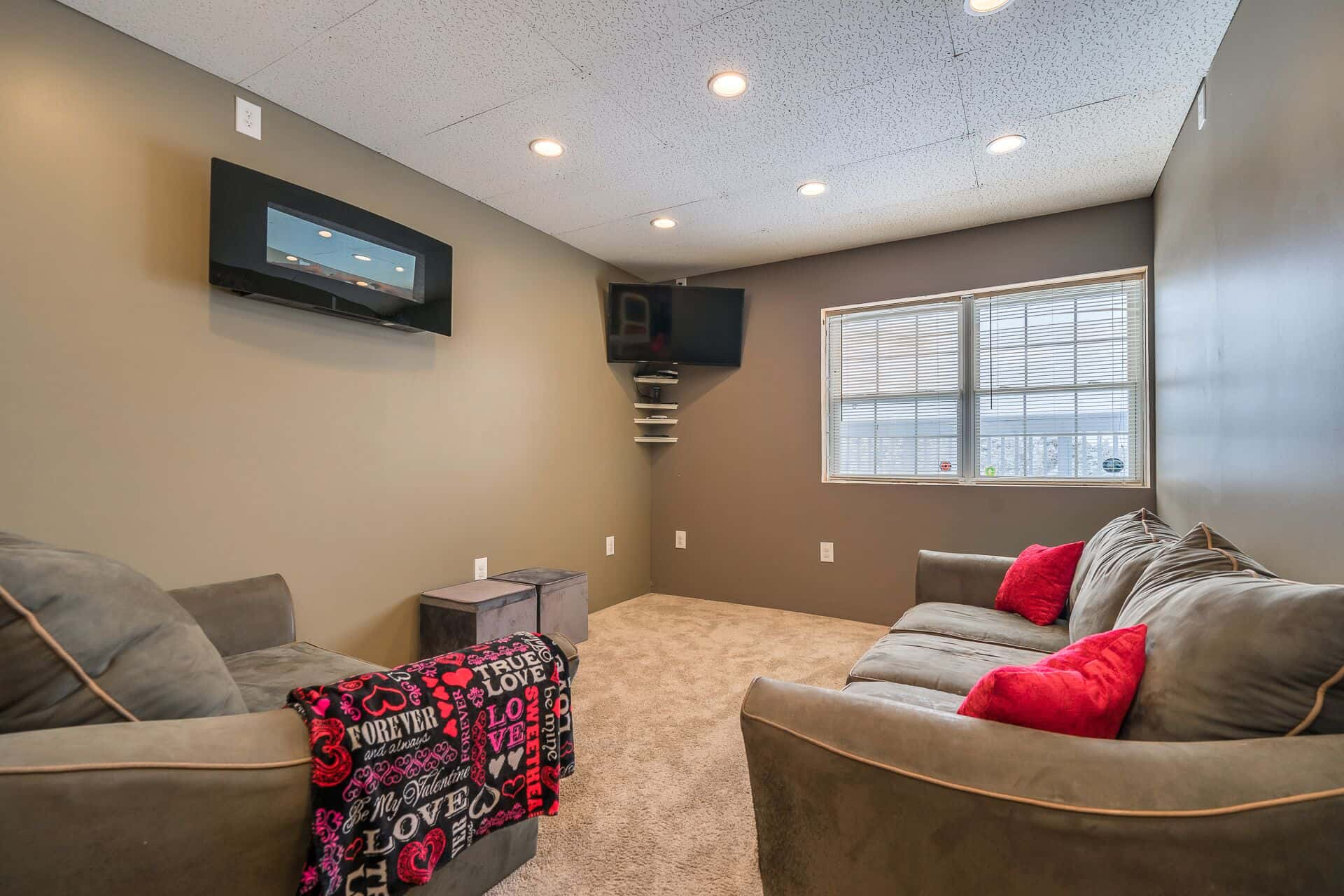 Converted 2-Car Garage to Recreation Room