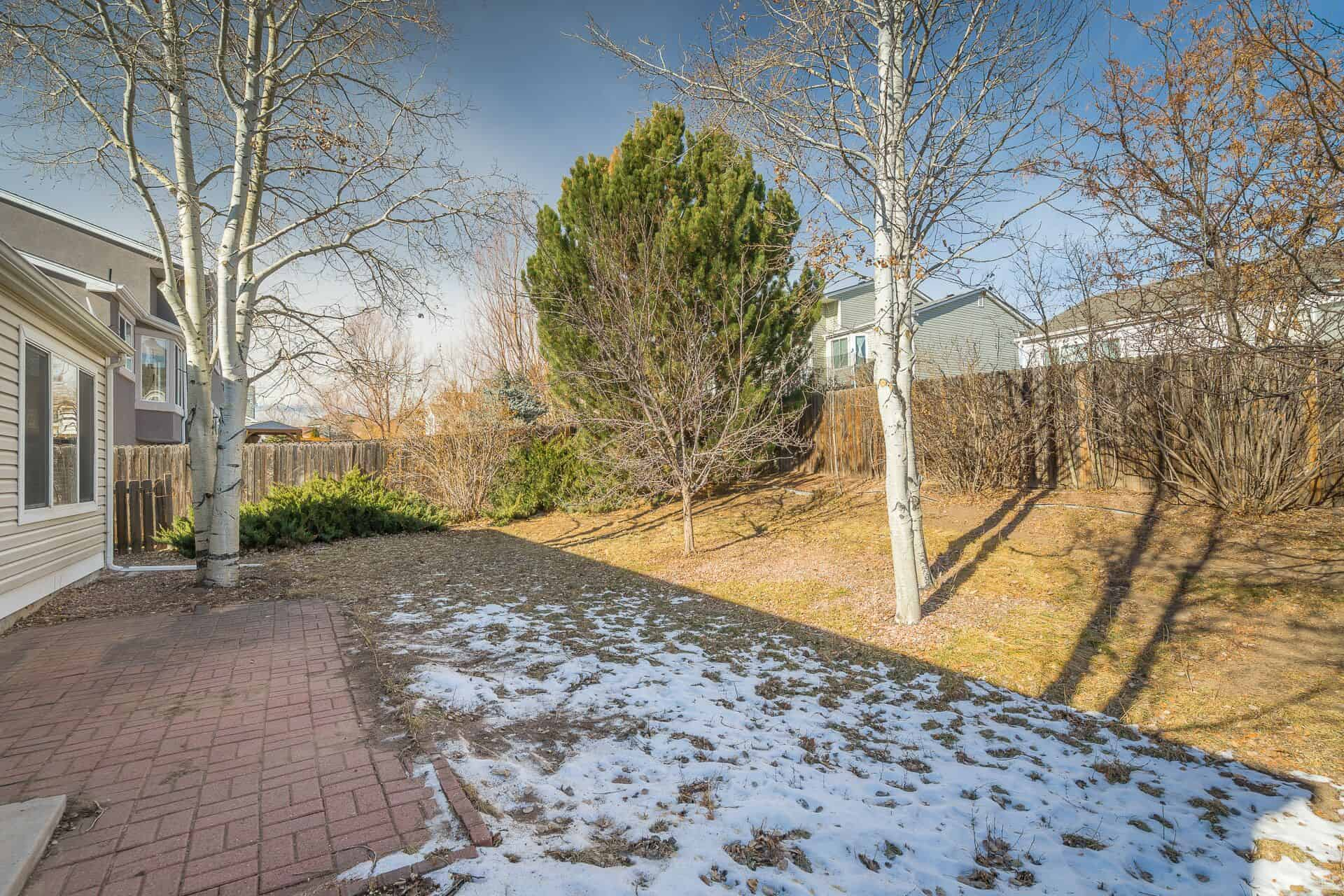 Fenced Lot with Brick Patio