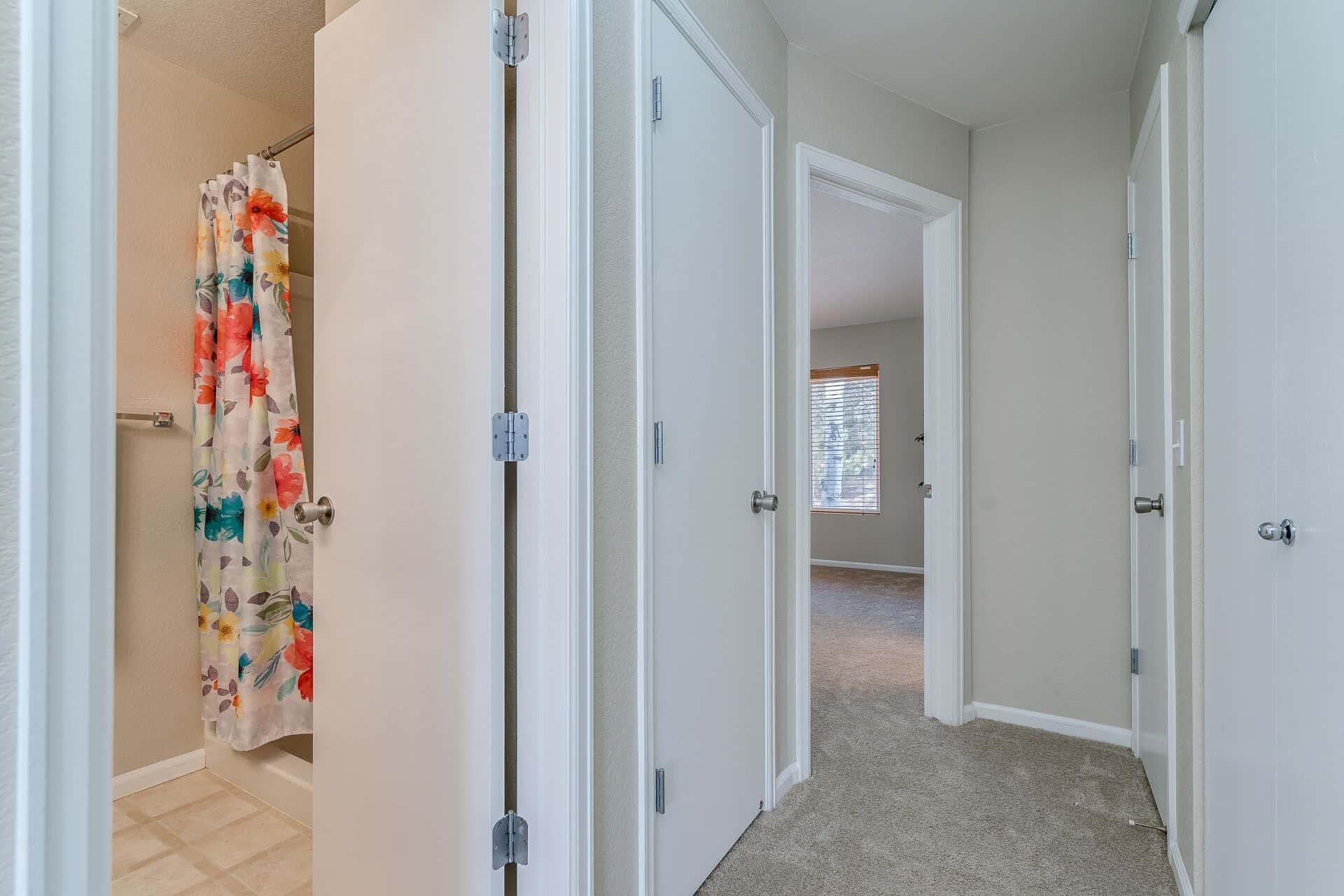 Hallway into Master Bedroom
