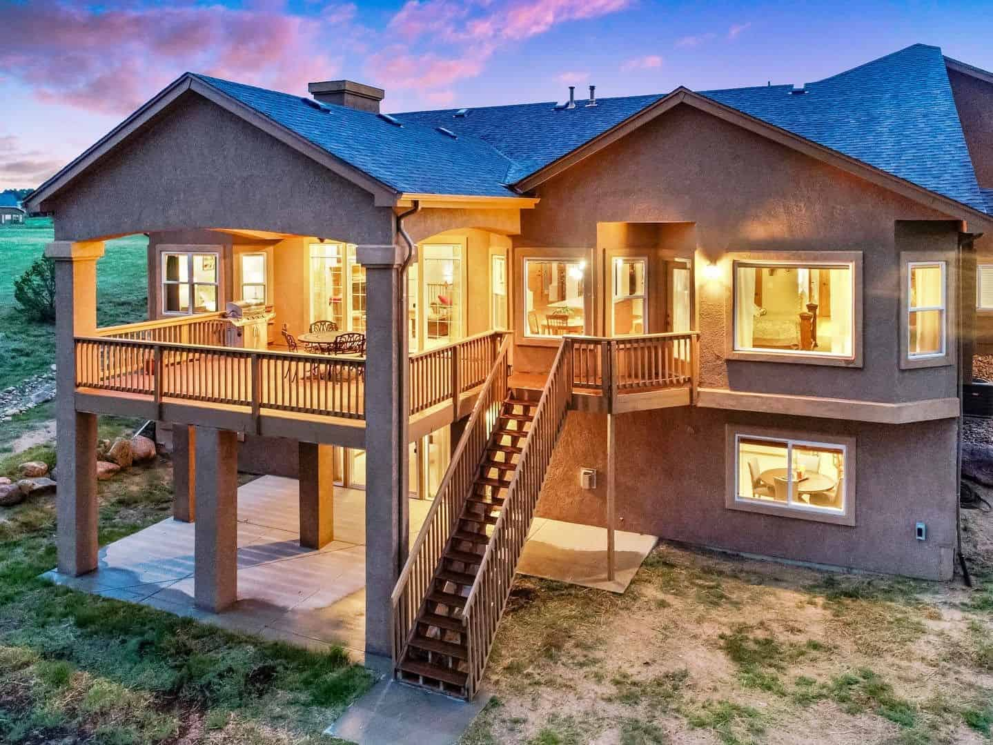 Sunset Views of Deck and Patio